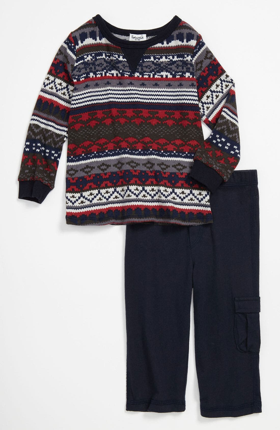 Alternate Image 1 Selected - Splendid 'Breckenridge' Thermal Top & Pants (Infant)