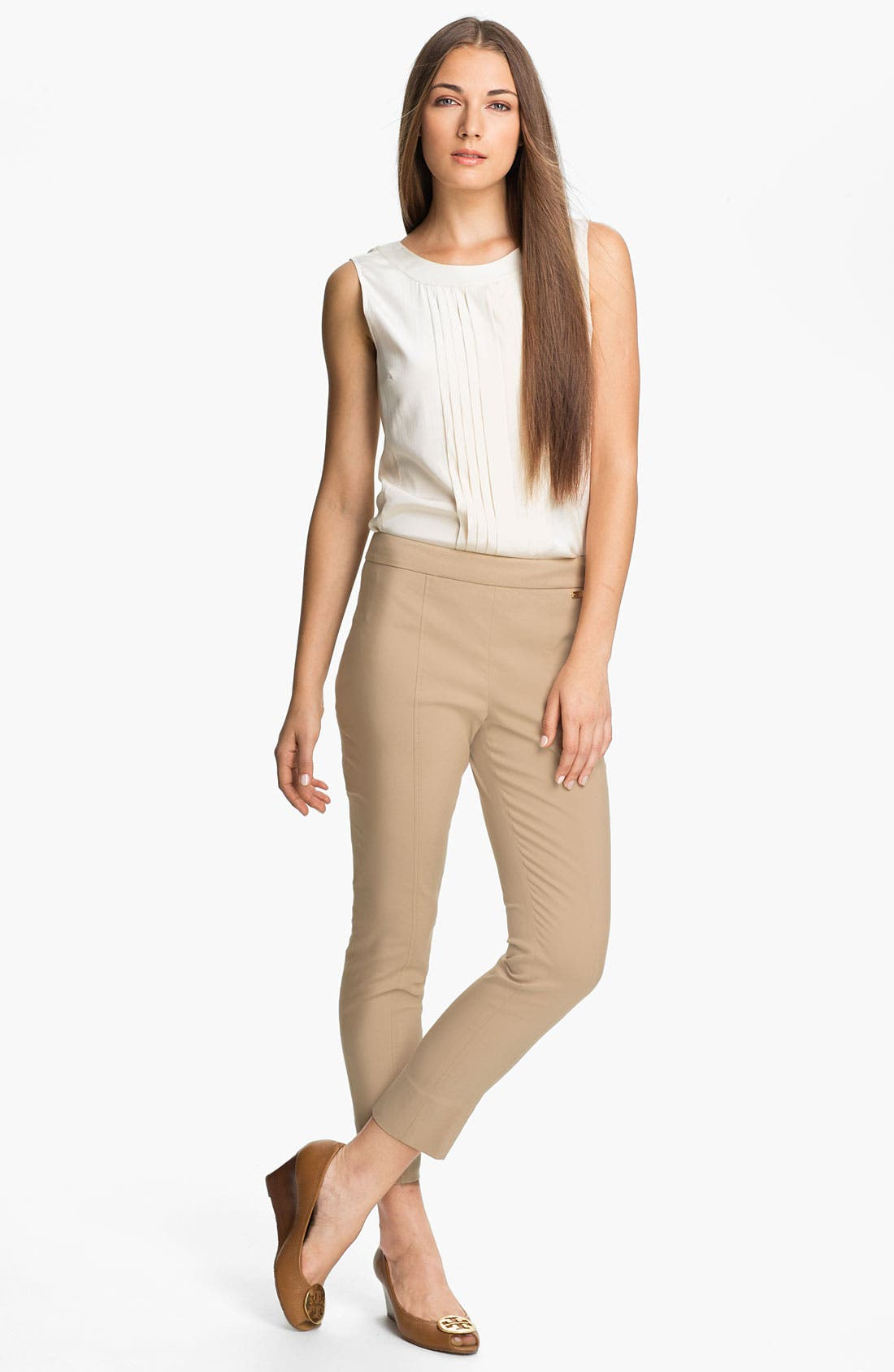 Alternate Image 4  - Tory Burch 'April' Stretch Silk Top