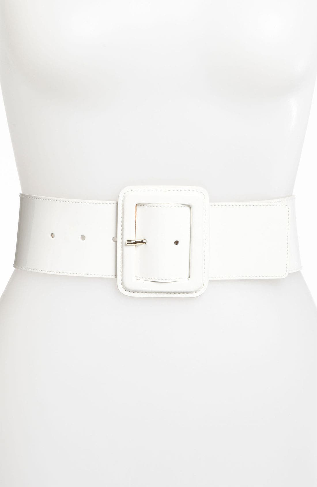 Main Image - St. John Collection Wide Patent Leather Belt
