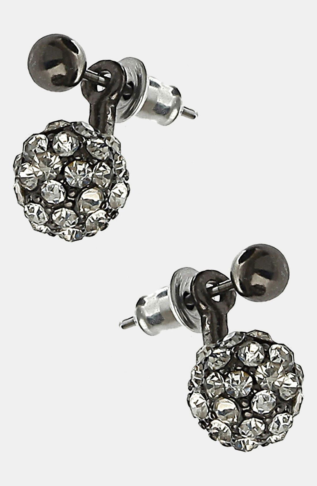 Alternate Image 1 Selected - Topshop 'Sparkle' Ball Earrings