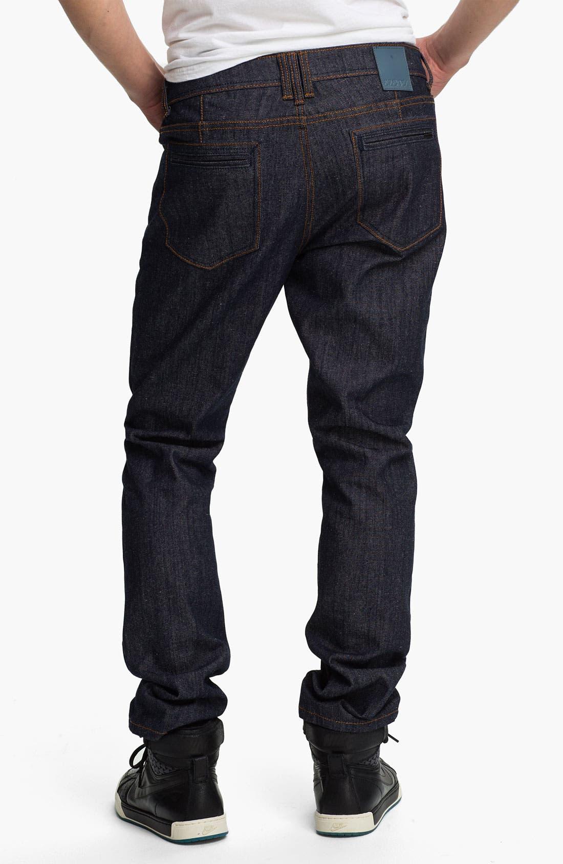 Alternate Image 1 Selected - Ezekiel 'Chopper 305' Slim Straight Leg Jeans (Raw Indigo)
