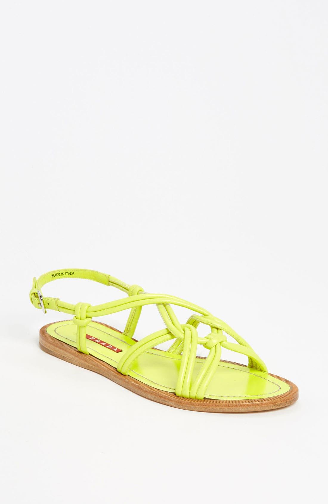 Alternate Image 1 Selected - Prada Knot Strap Sandal