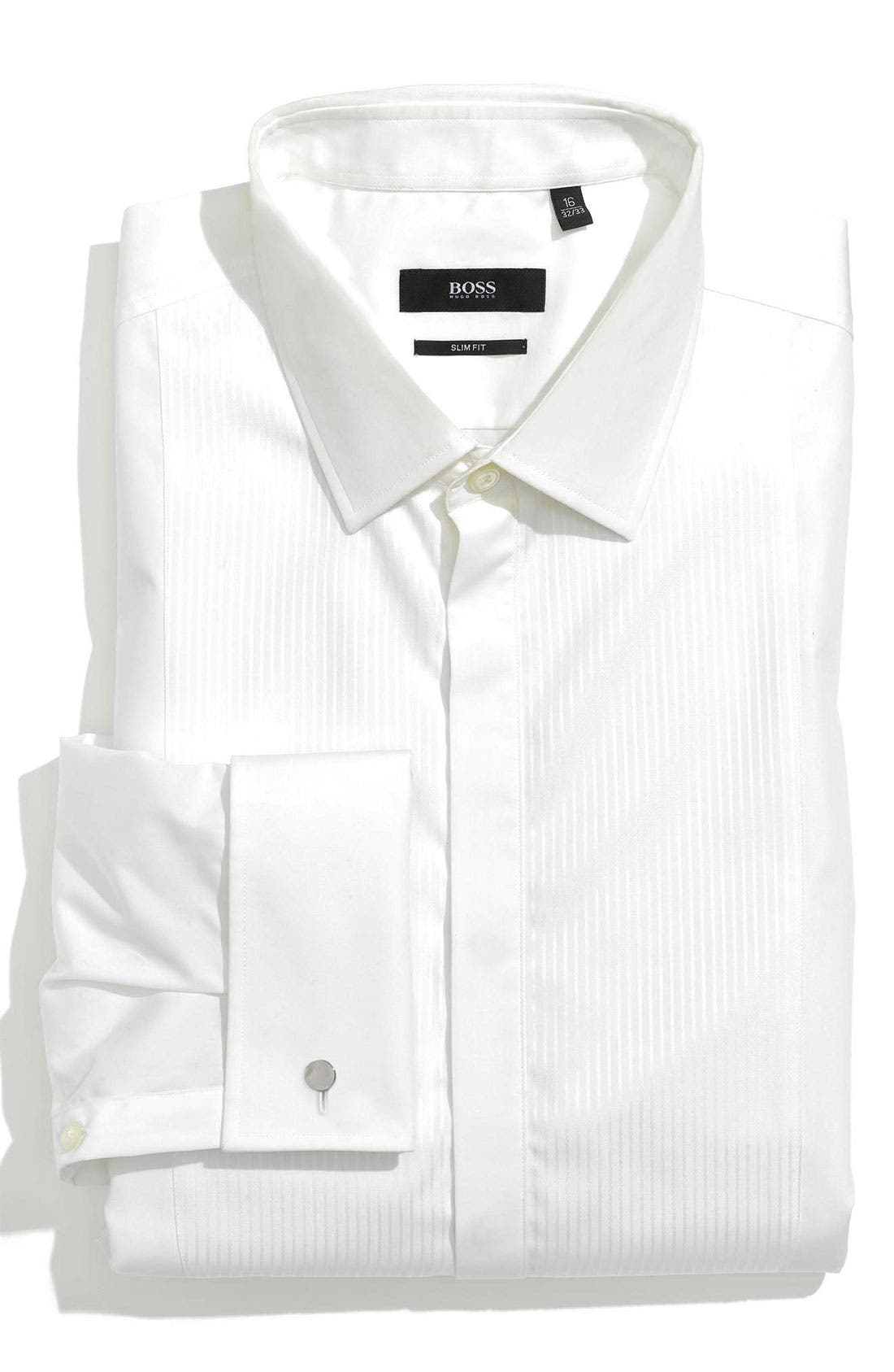Alternate Image 1 Selected - BOSS HUGO BOSS 'Jason' Slim Fit Tuxedo Shirt
