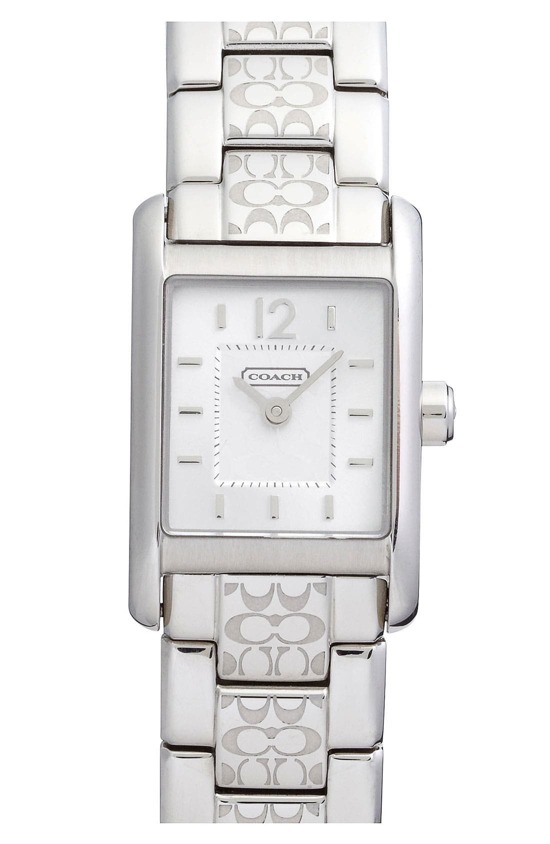 Alternate Image 1 Selected - COACH 'Carlisle' Square Dial Bracelet Watch