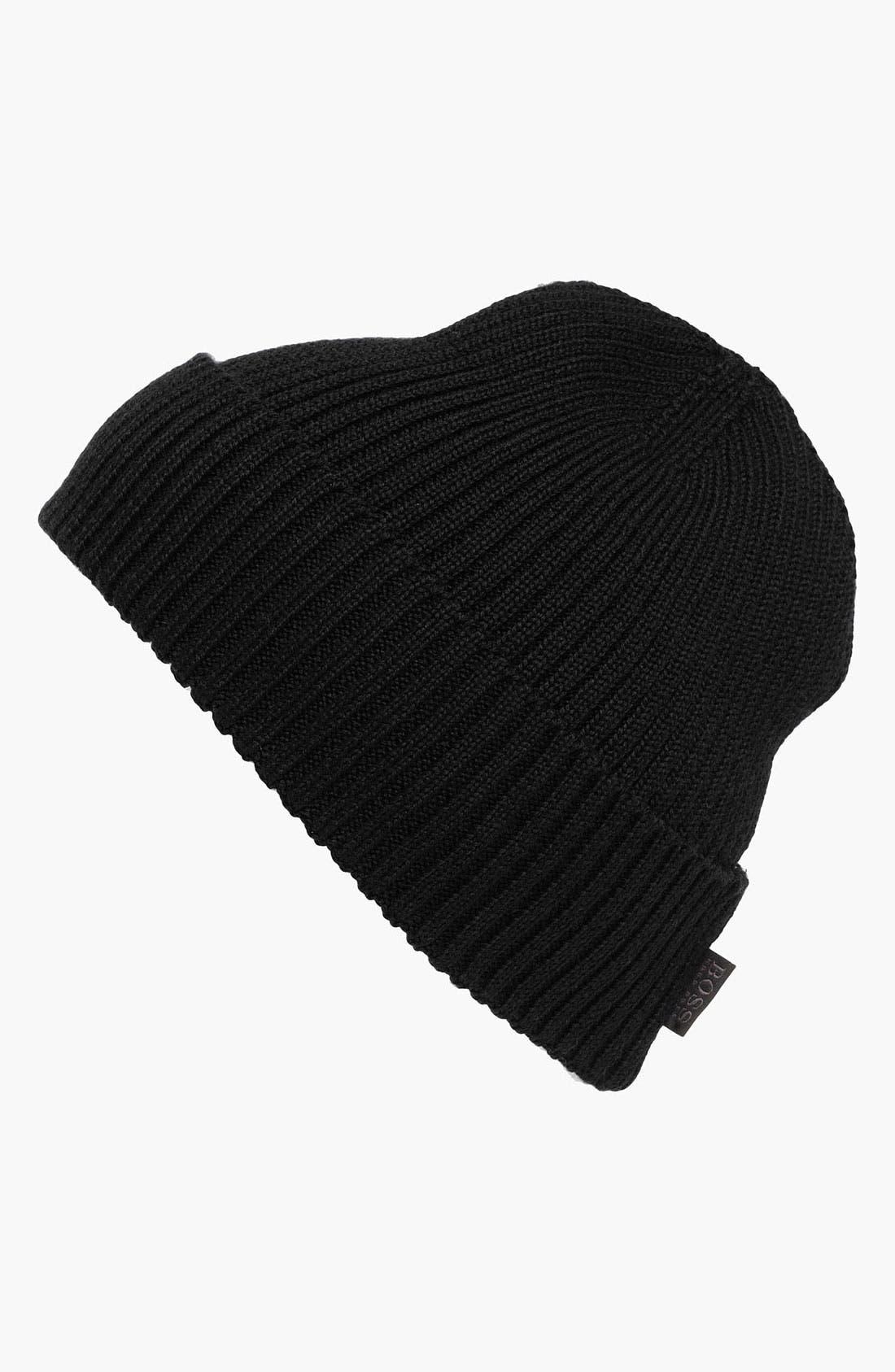 Alternate Image 1 Selected - BOSS Black 'Nattea' Wool Knit Cap