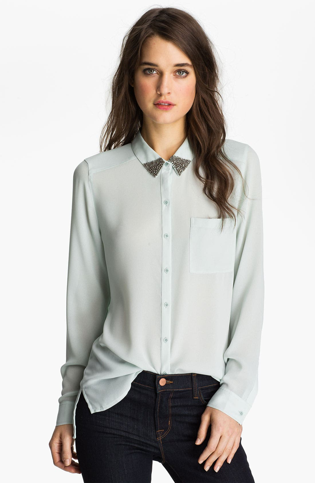 Main Image - Trouvé Embellished Collar Shirt