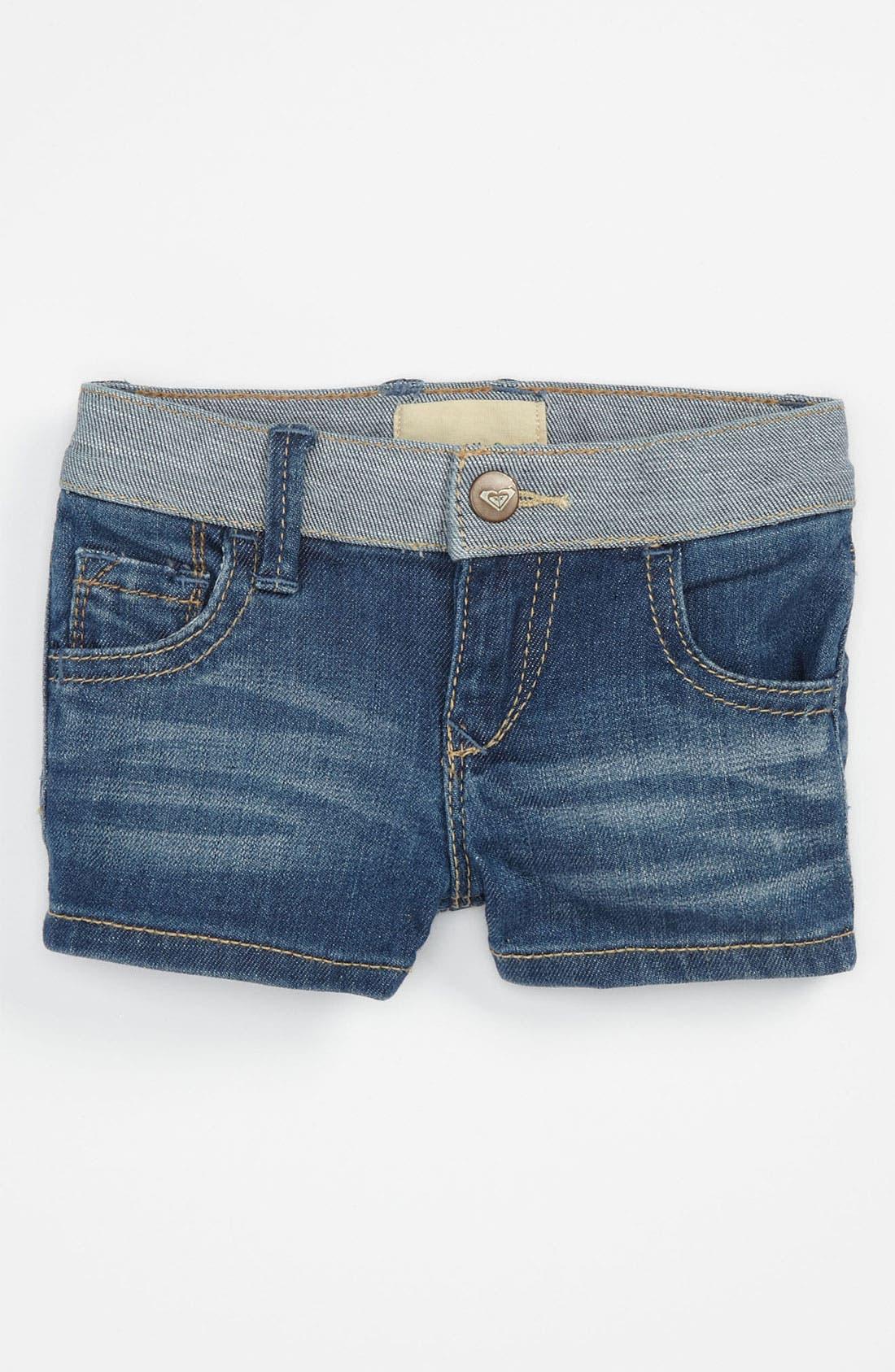Alternate Image 2  - 'Sundown' Denim Shorts (Toddler)
