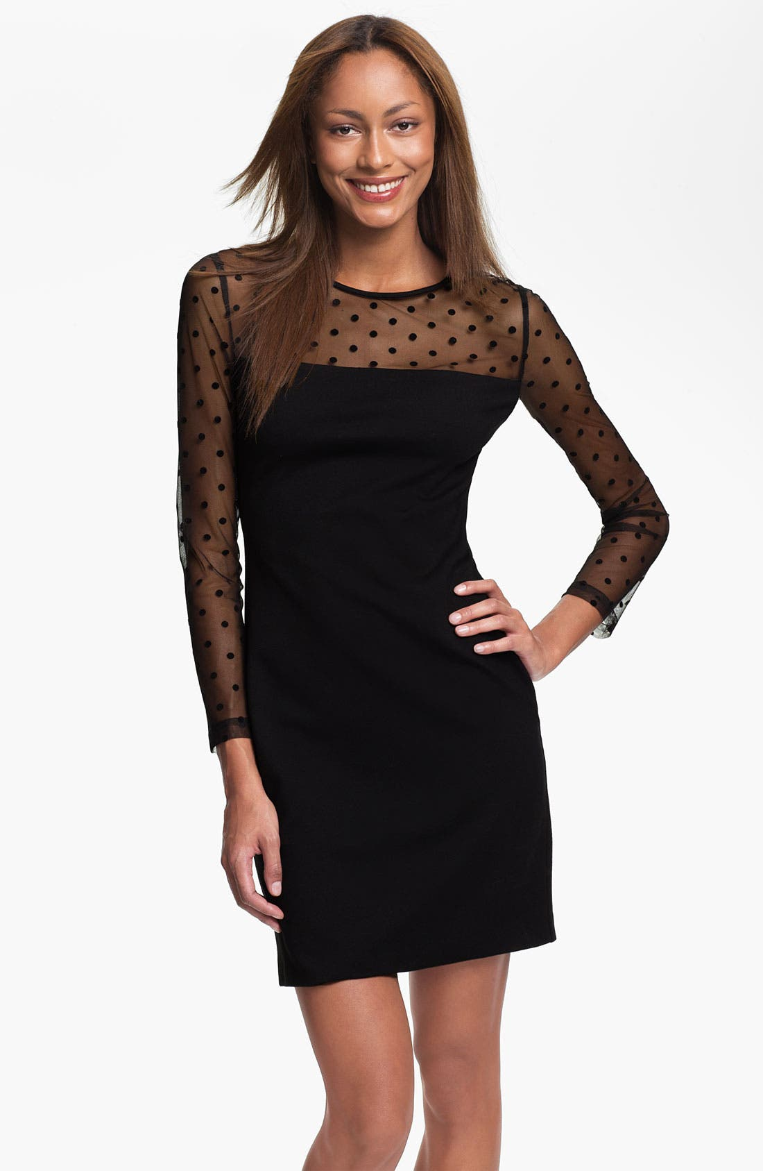 Alternate Image 1 Selected - Vince Camuto Dot Illusion Dress (Online Exclusive)