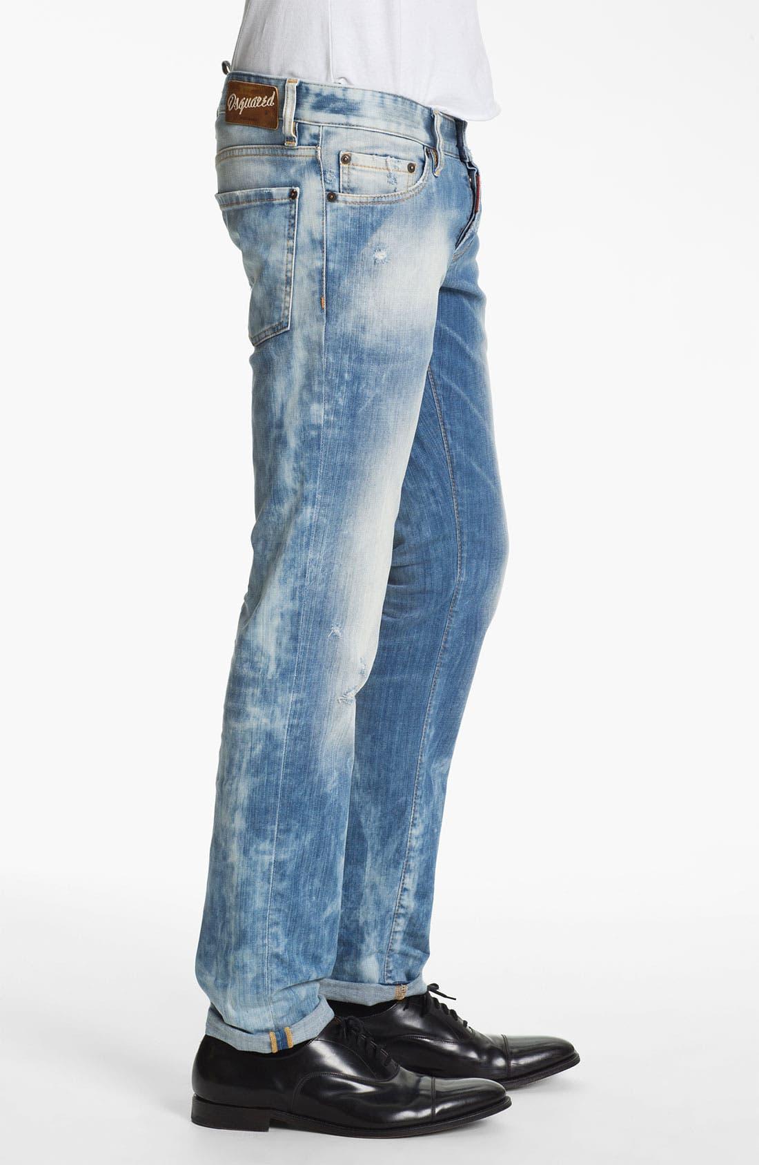 Alternate Image 3  - Dsquared2 Slim Fit Jeans (Bleach Blue)