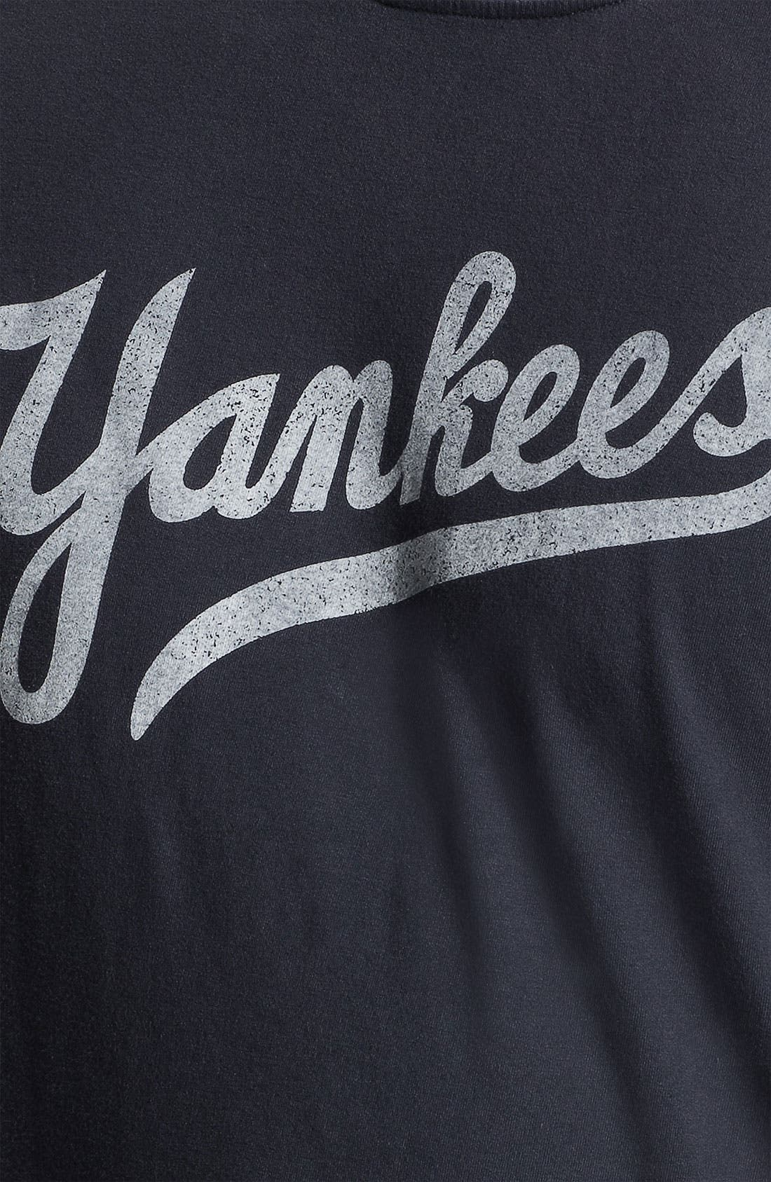 Alternate Image 3  - Red Jacket 'New York Yankees' Trim Fit Ringer T-Shirt (Men)