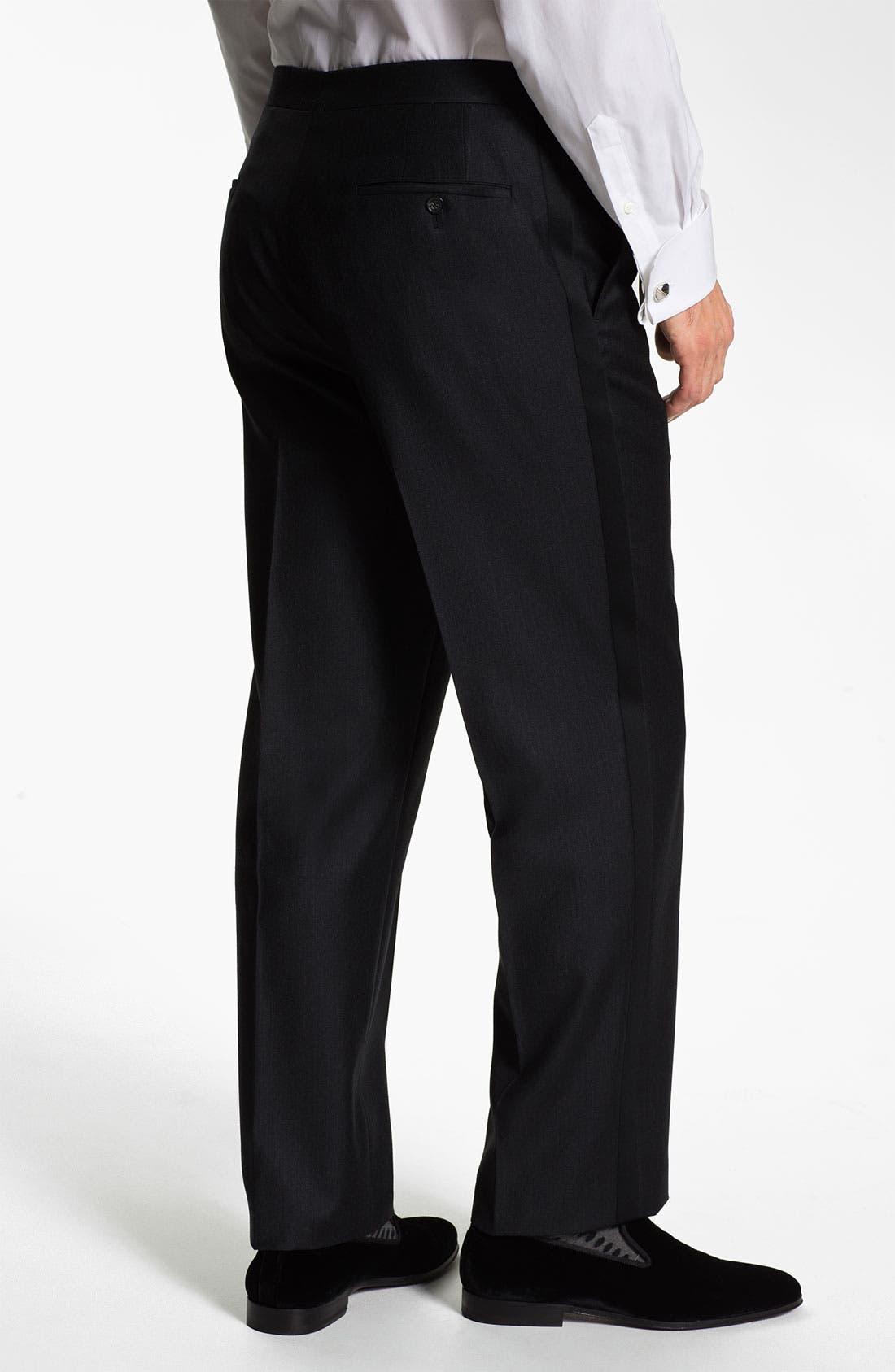 Alternate Image 2  - Samuelsohn Stripe Tuxedo Trousers