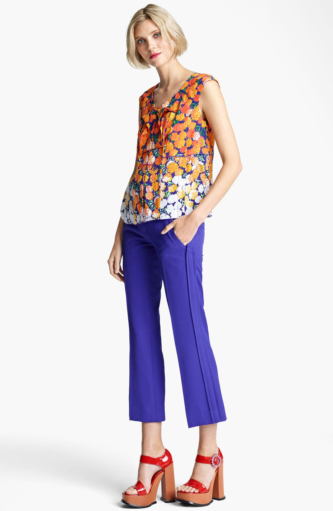 Alternate Image 4  - MARC JACOBS Dégradé Floral Silk Crepe Top