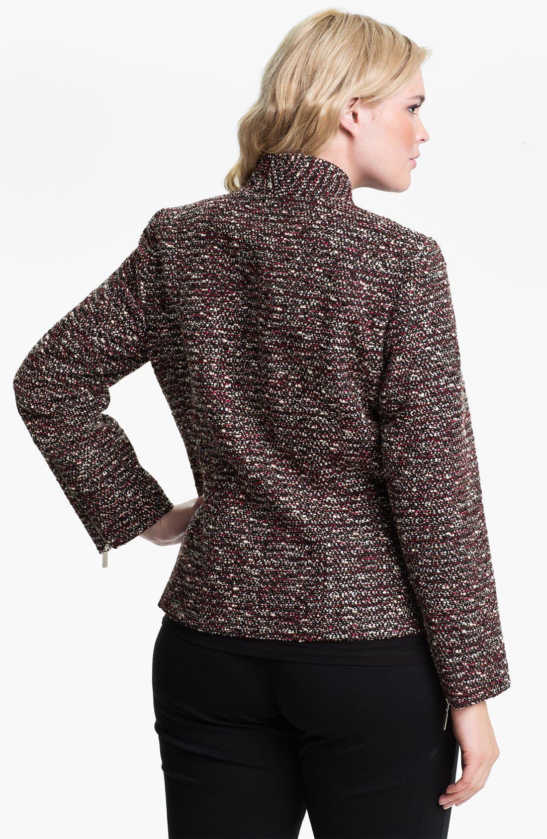 Alternate Image 2  - Louben Tweed Jacket (Plus)