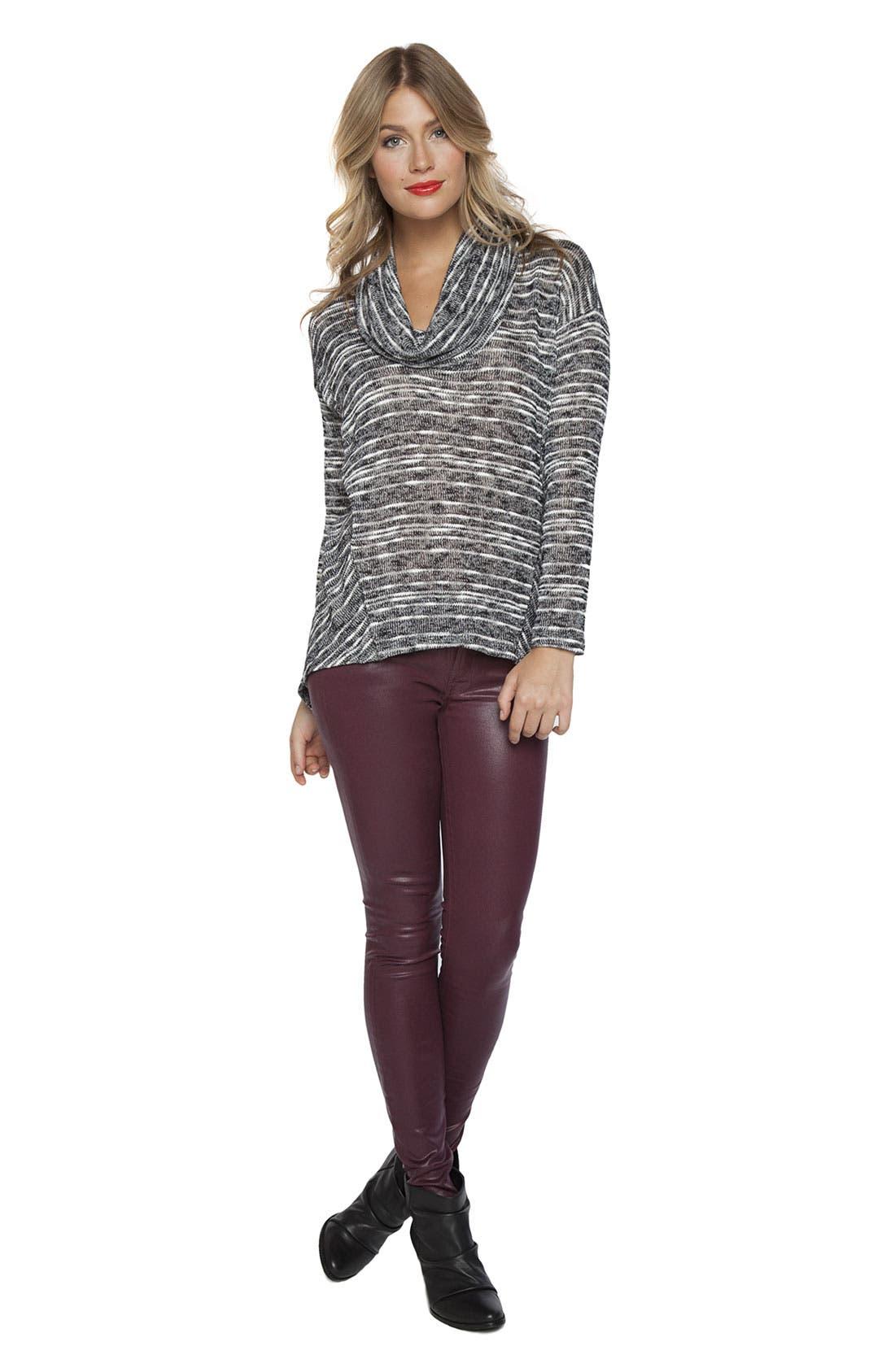 Alternate Image 4  - Splendid Stripe Cowl Neck Sweater
