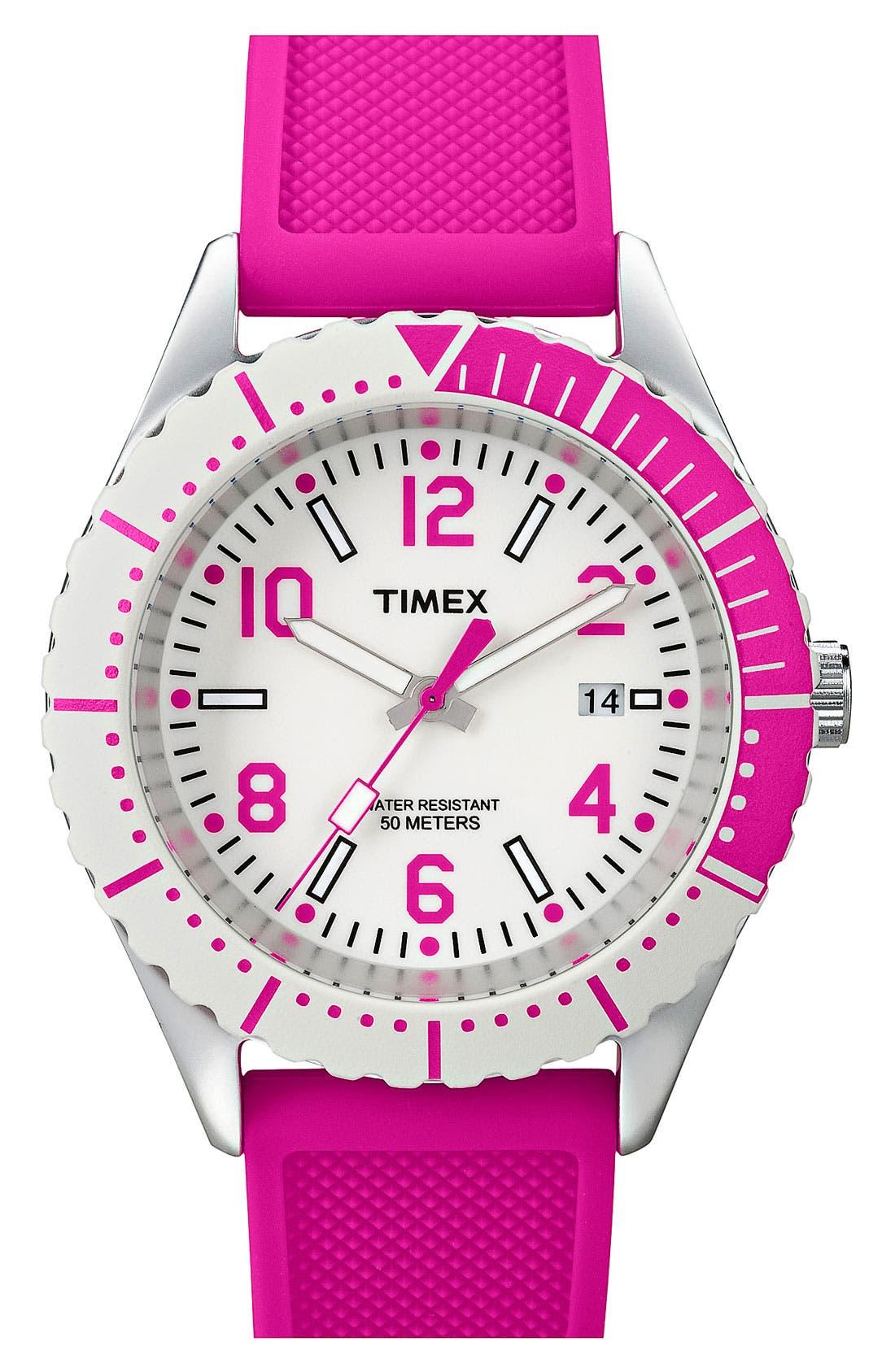 Main Image - Timex® 'Originals Sport Brights' Silicone Strap Watch