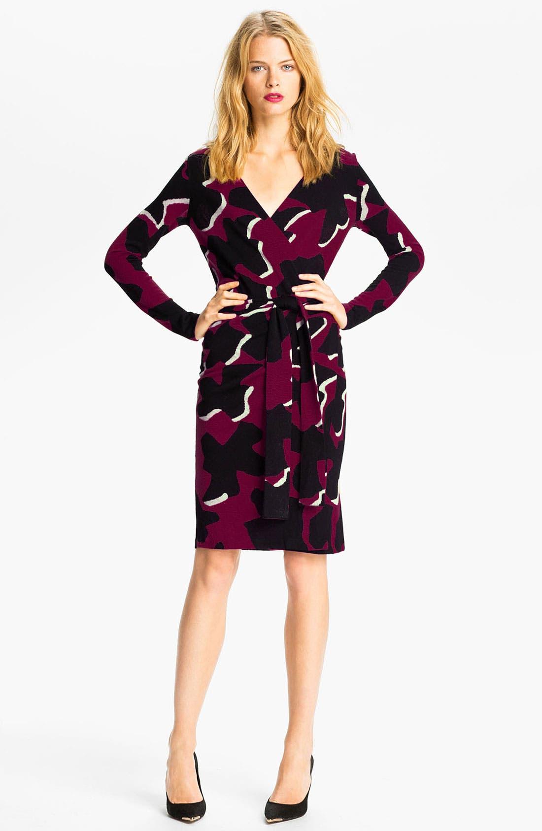 Main Image - Diane von Furstenberg 'Richley Dove Bloom' Wrap Dress (Online Exclusive)