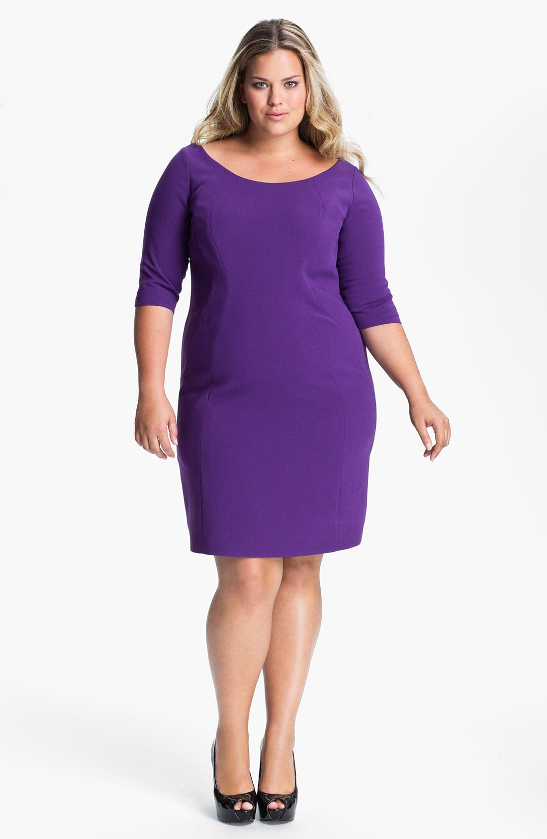 Alternate Image 1 Selected - Tahari Woman 'Pepita' Dress (Plus)