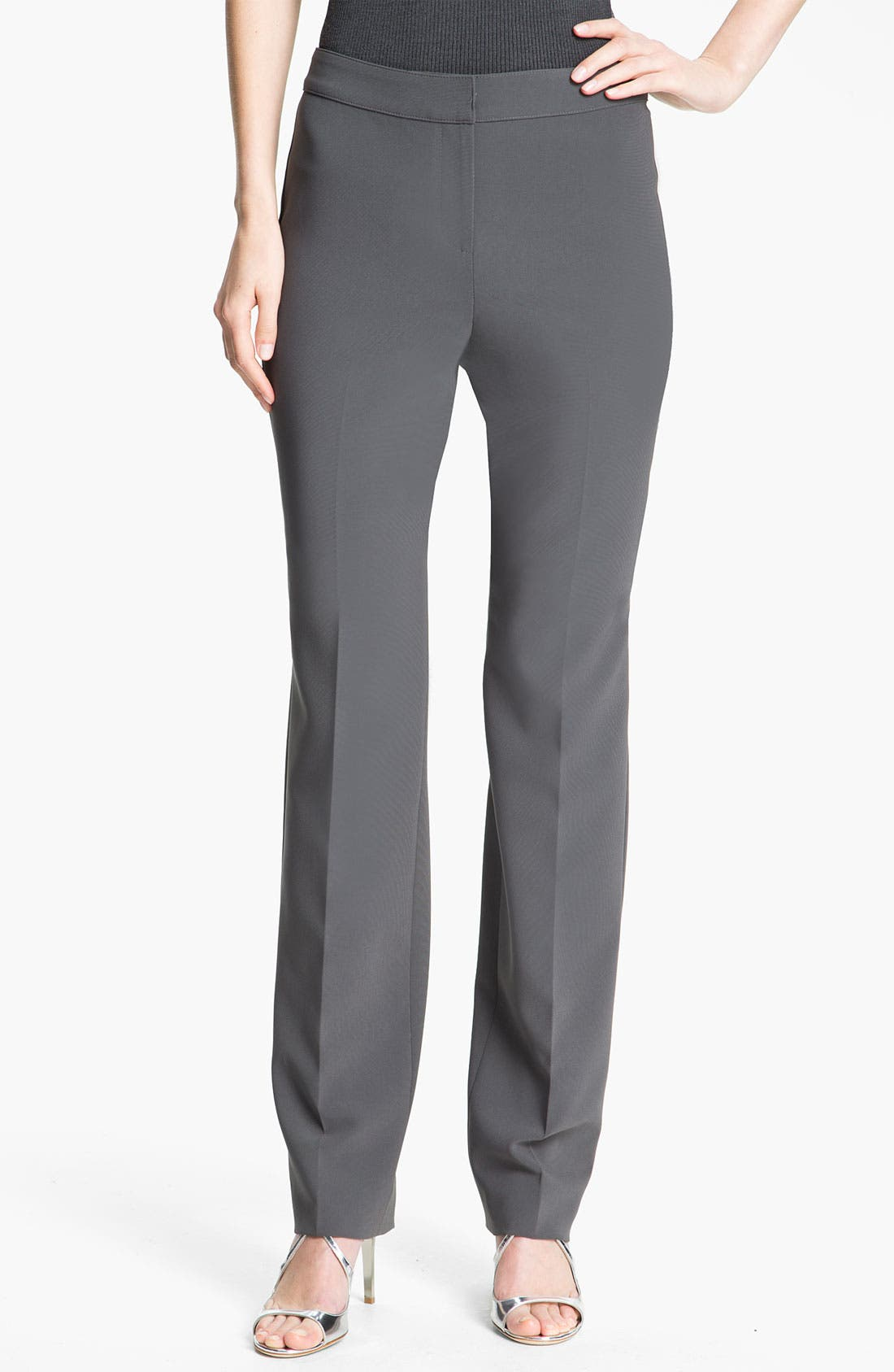 Alternate Image 1 Selected - St. John Collection Crepe Marocain Pants