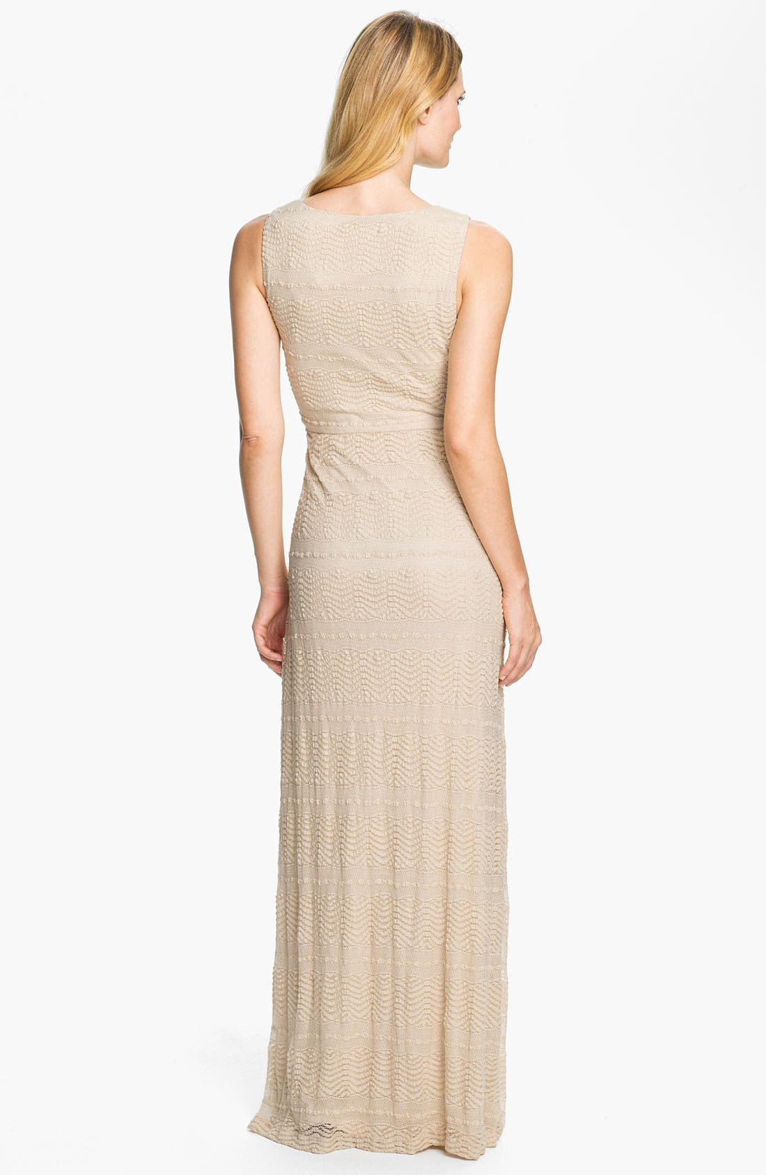Alternate Image 2  - Donna Ricco Textured Front Pleat Surplice Maxi Dress