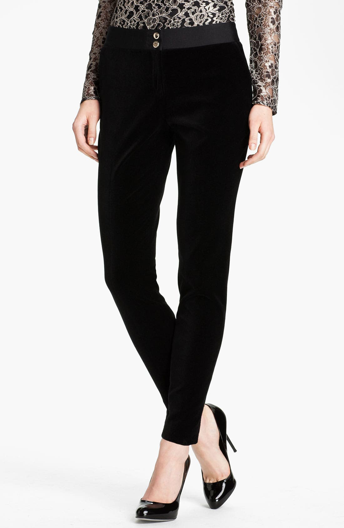 Main Image - Ted Baker London Tapered Leg Velvet Trousers