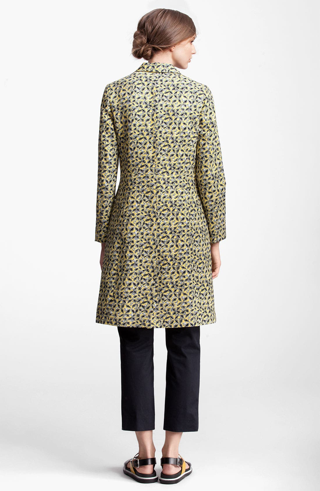 Alternate Image 2  - Marni Edition Long Leaf Print Coat