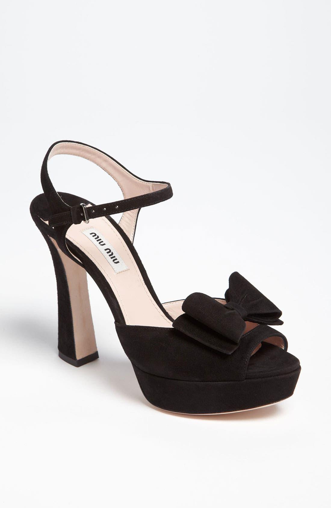 Alternate Image 1 Selected - Miu Miu Quarter Strap Sandal