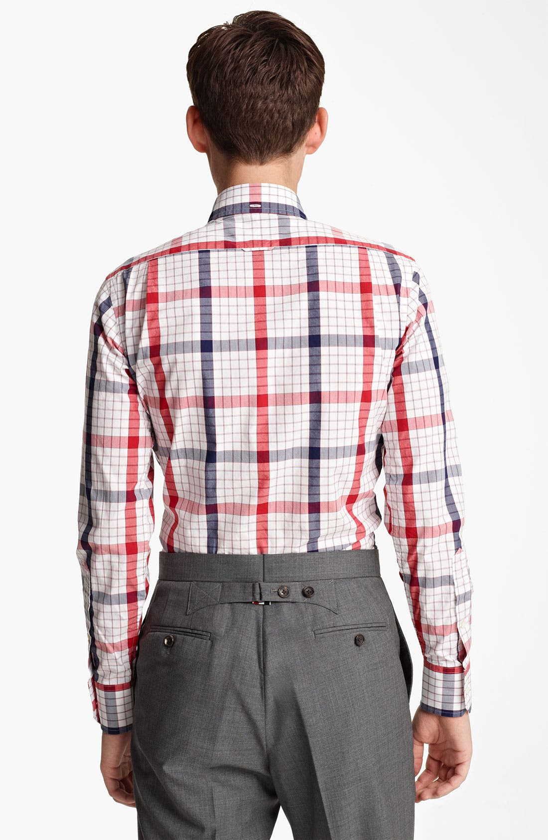 Alternate Image 2  - Thom Browne Poplin Check Shirt
