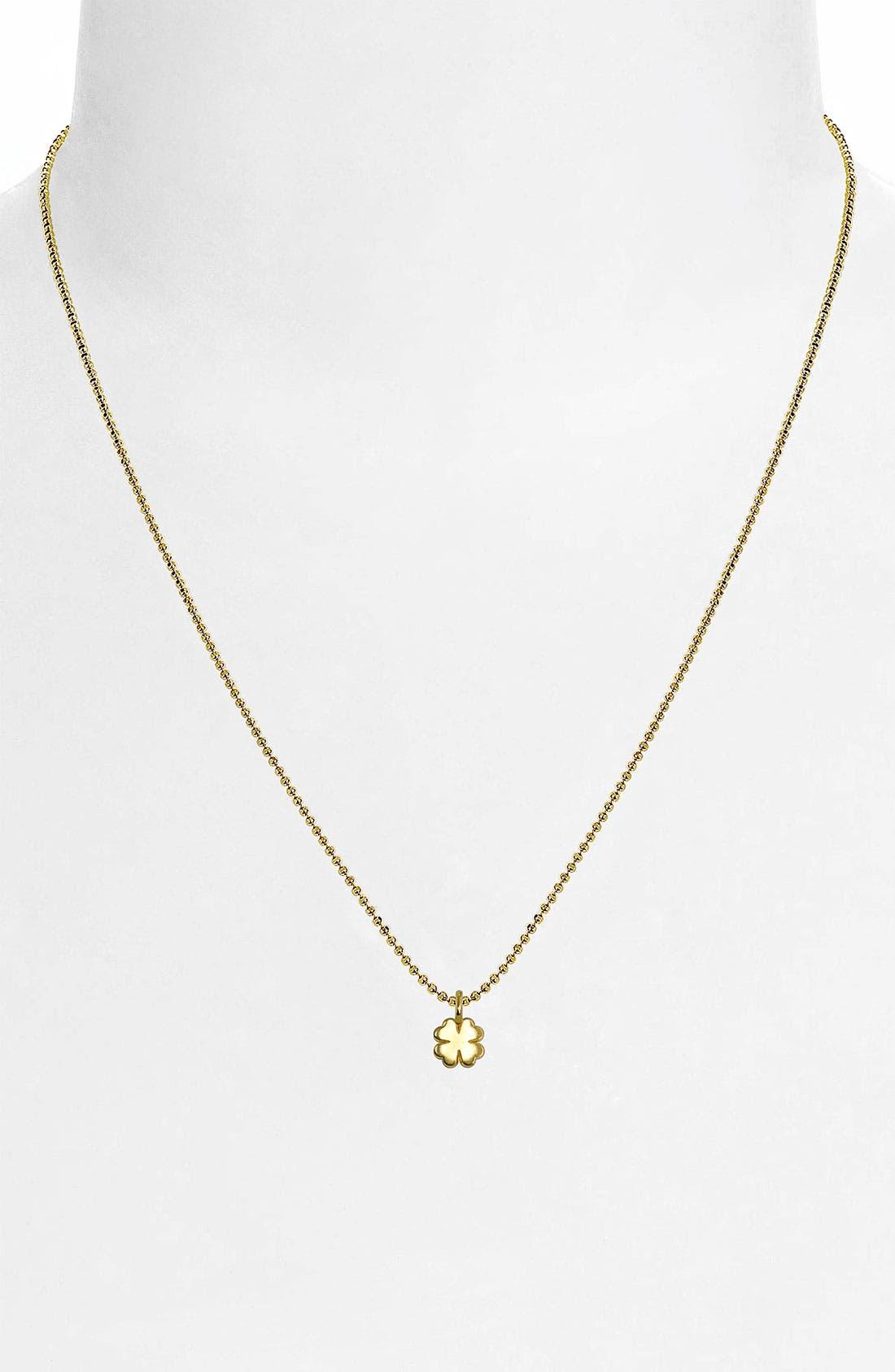 Alternate Image 2  - Alex Woo 'Mini Clover' 14k Gold Pendant Necklace