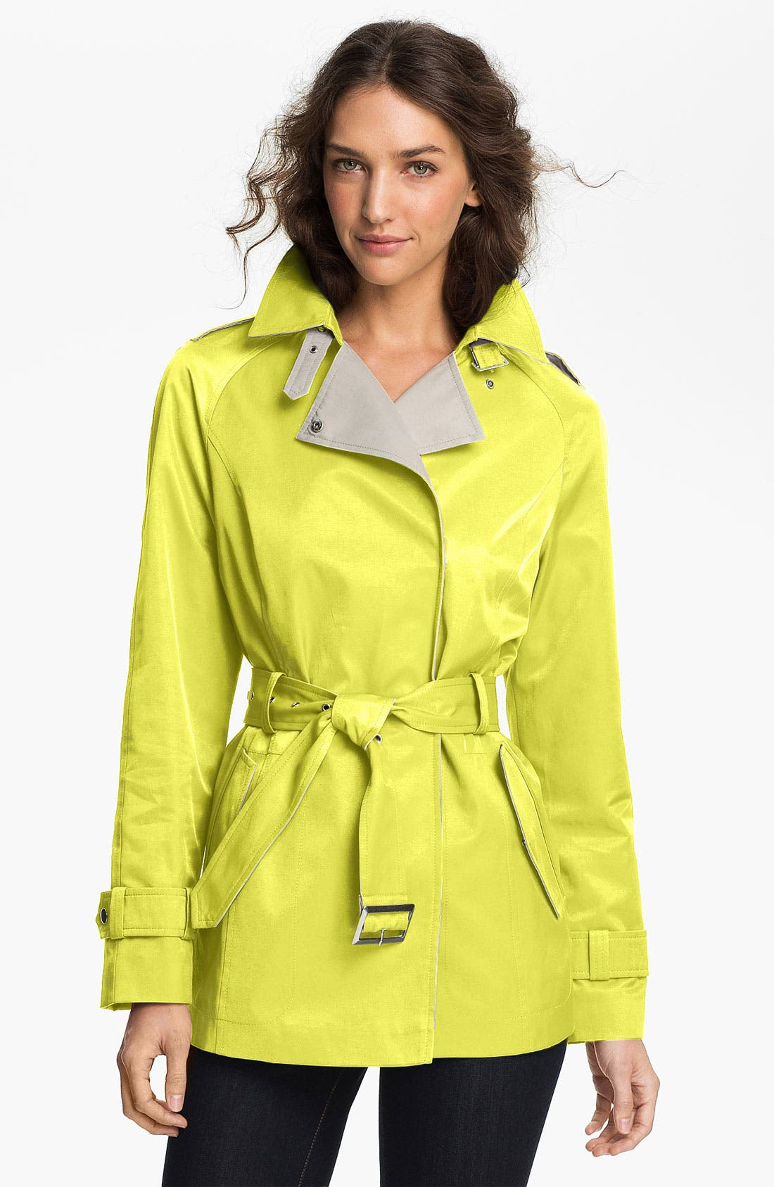 Main Image - Gallery Two Tone Asymmetrical Coat (Online Only)