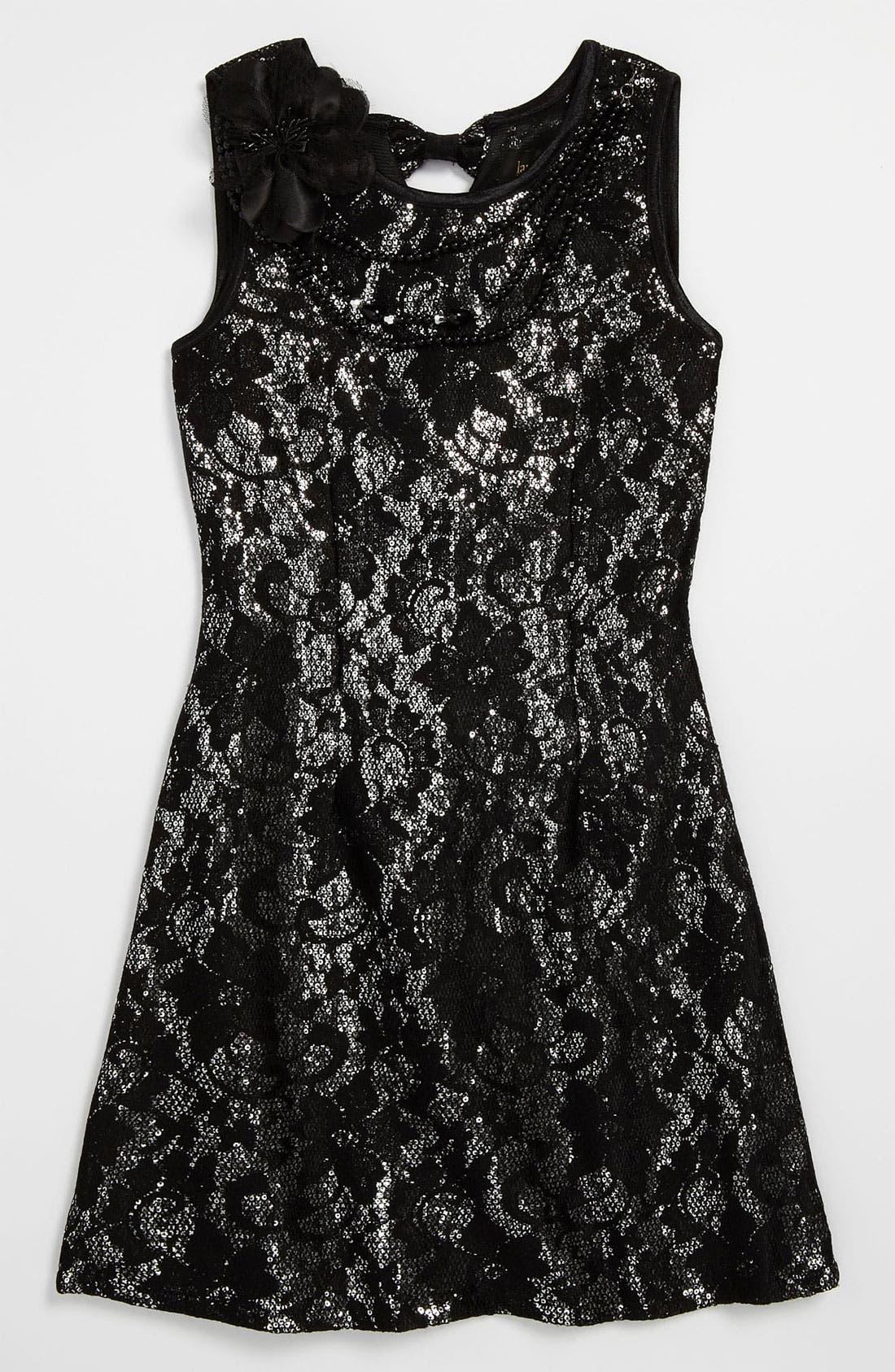 Alternate Image 1 Selected - Laundry by Shelli Segal 'Jessica' Dress (Big Girls)