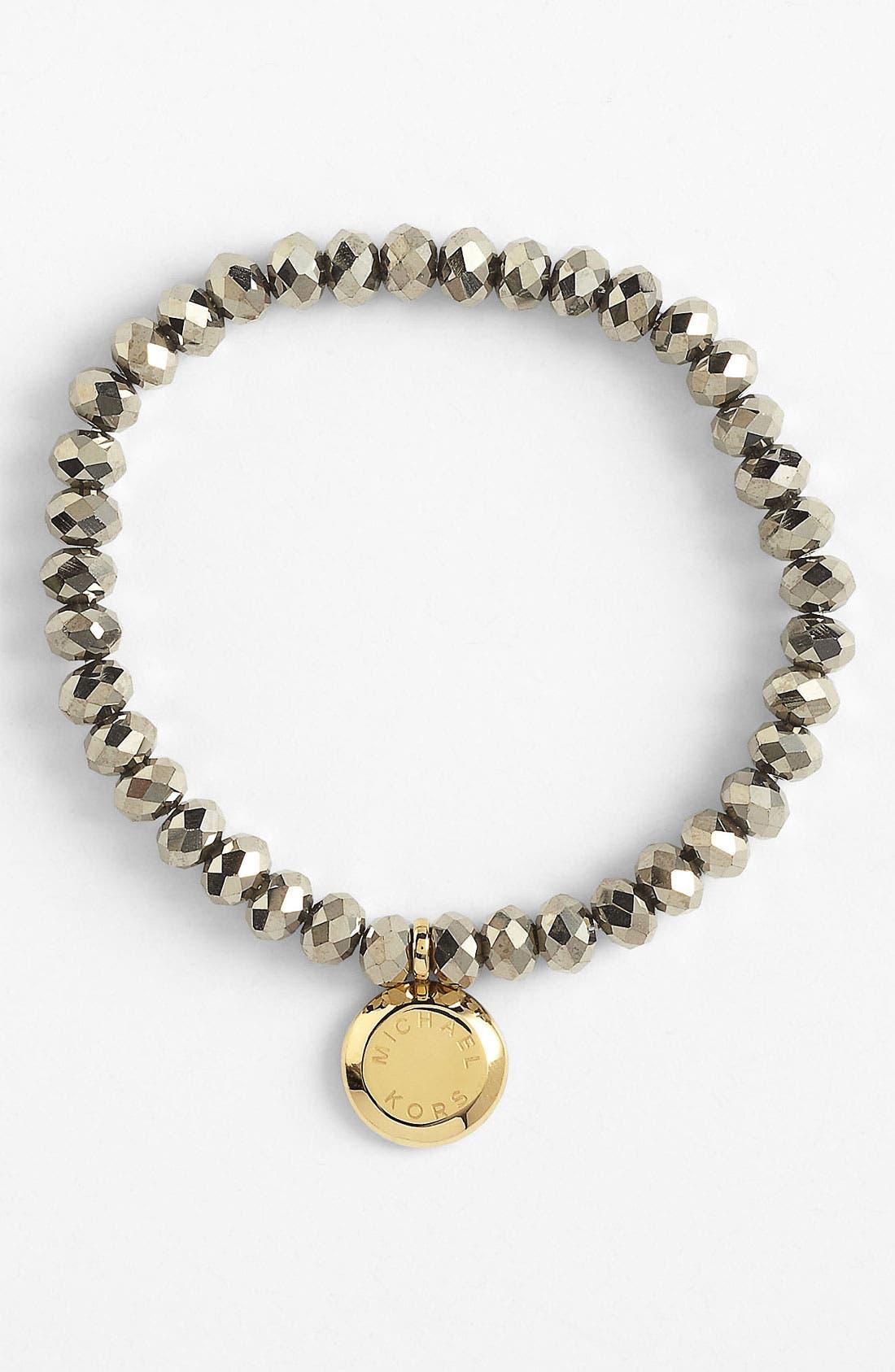 Main Image - Michael Kors 'Brilliance' Charm Bead Stretch Bracelet
