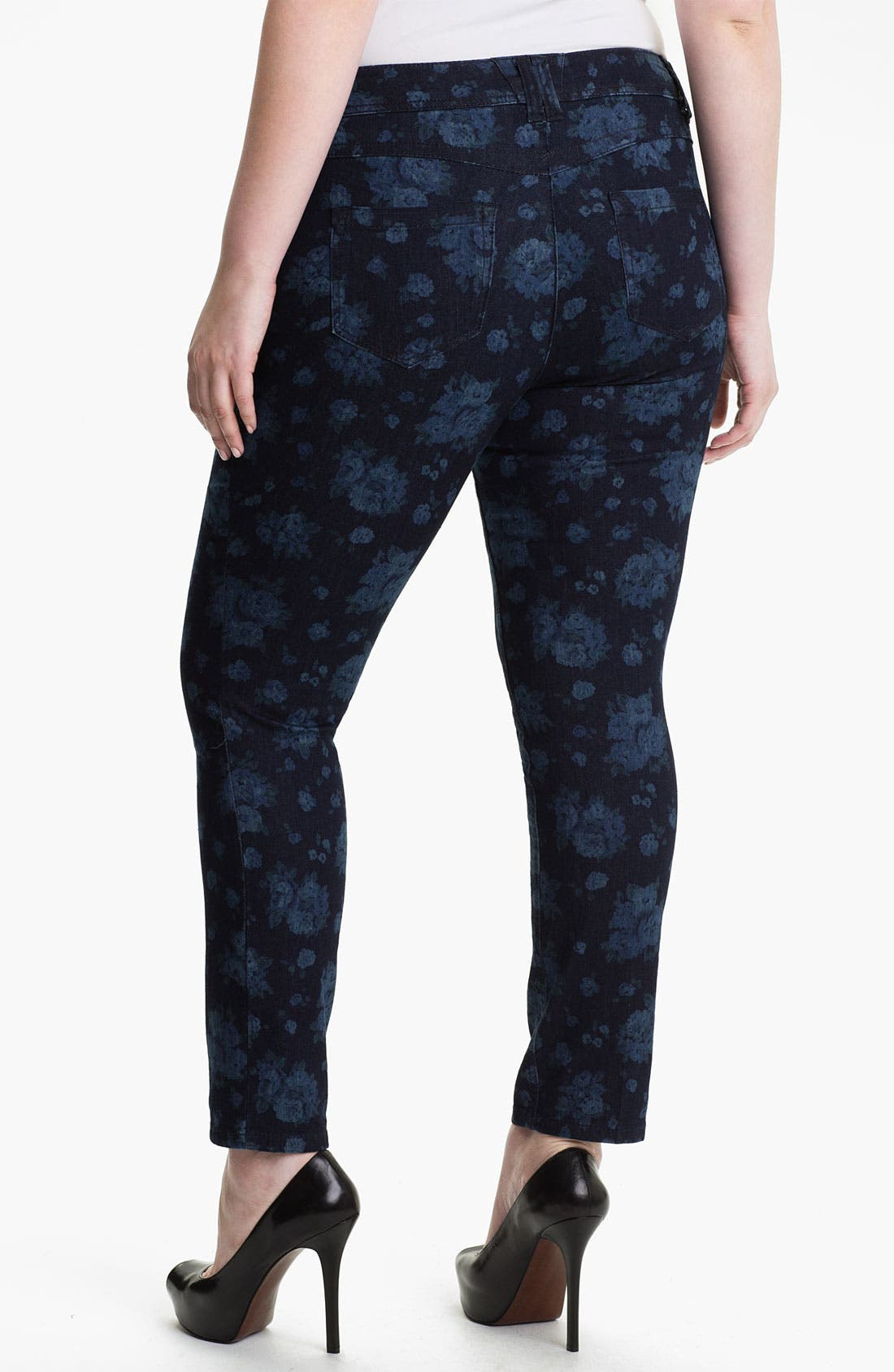 Alternate Image 2  - Wit & Wisdom Floral Print Leggings (Plus) (Nordstrom Exclusive)