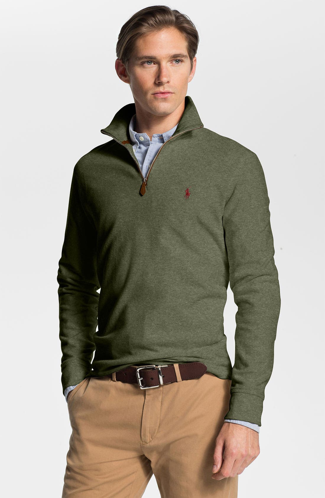 Alternate Image 1 Selected - Polo Ralph Lauren Half Zip Pullover