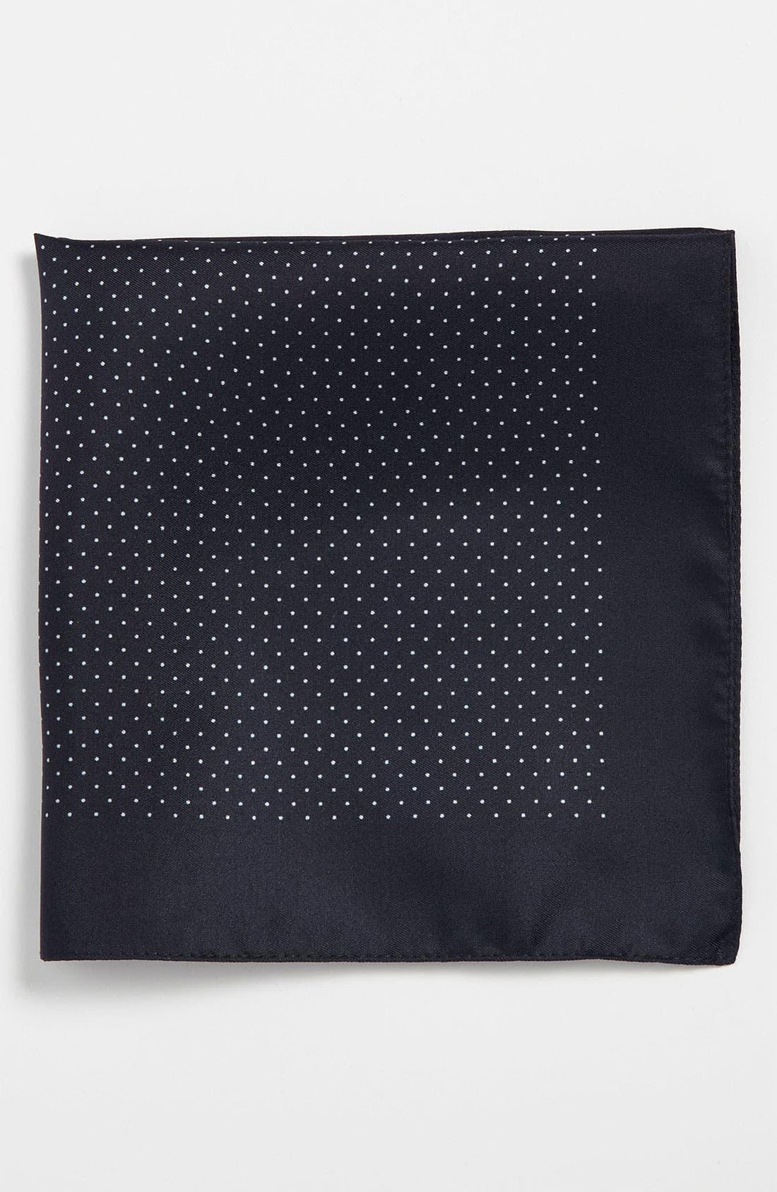 Main Image - BOSS Black Silk Pocket Square