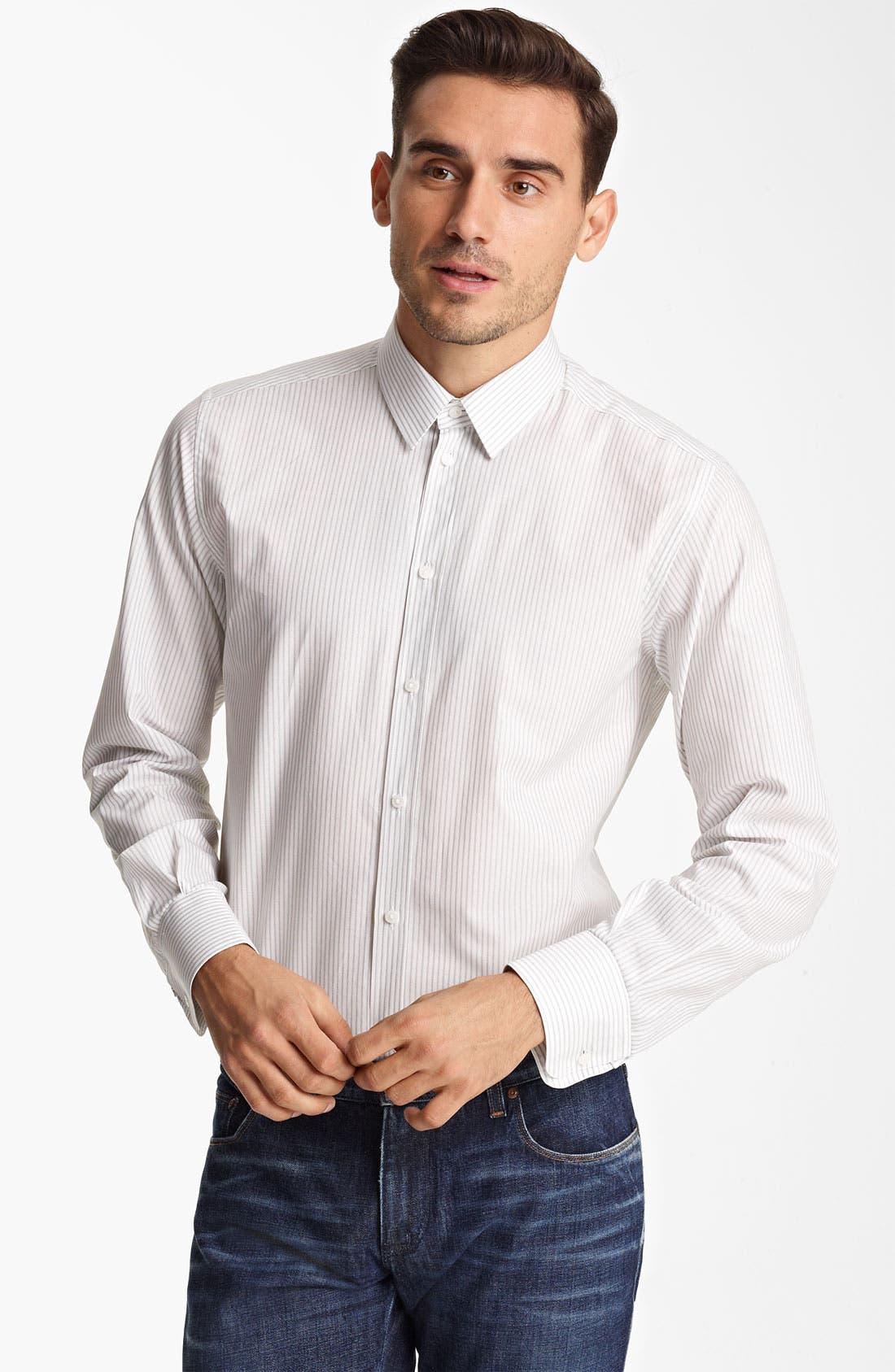Alternate Image 1 Selected - Dolce&Gabbana Stripe Dress Shirt