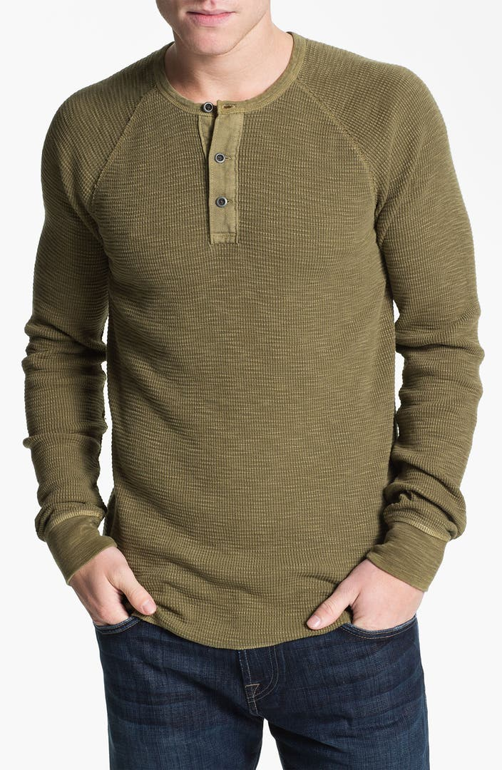 Lucky Brand Waffle Knit Thermal Henley T Shirt Nordstrom