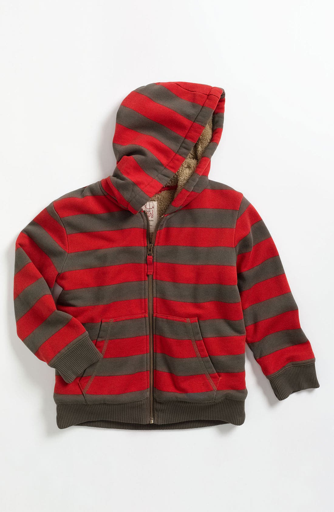 Alternate Image 1 Selected - Mini Boden Lined Hoodie (Toddler)