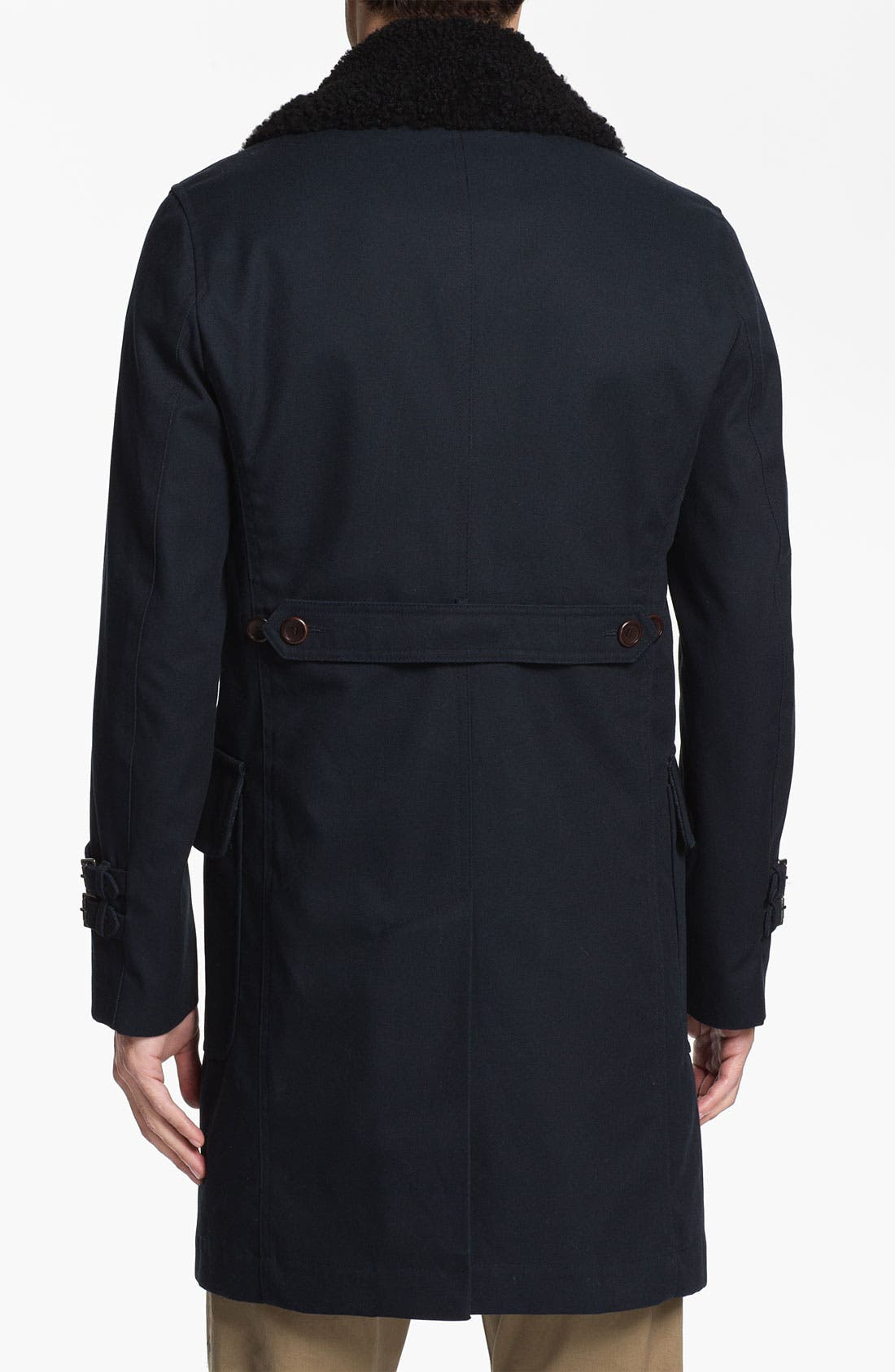 Alternate Image 2  - PLECTRUM by Ben Sherman Double Breasted Overcoat