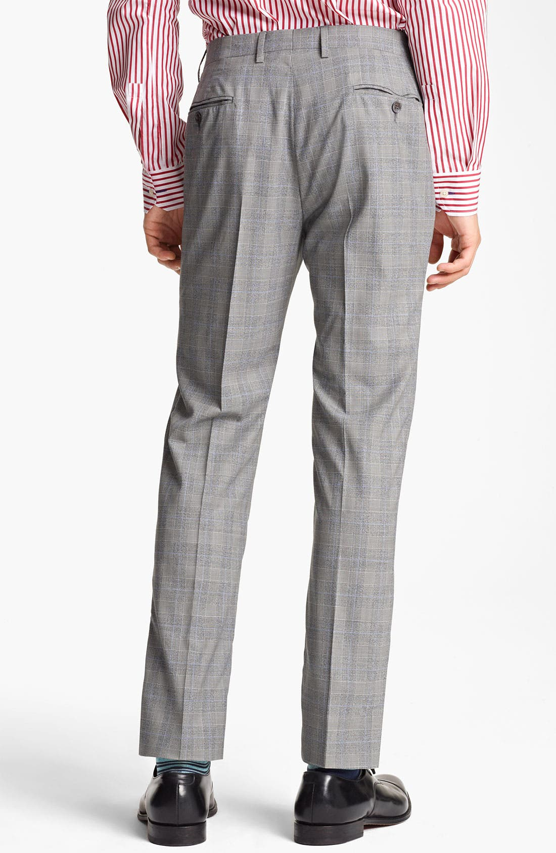 Alternate Image 5  - Paul Smith London Slim Fit Glen Plaid Wool Suit