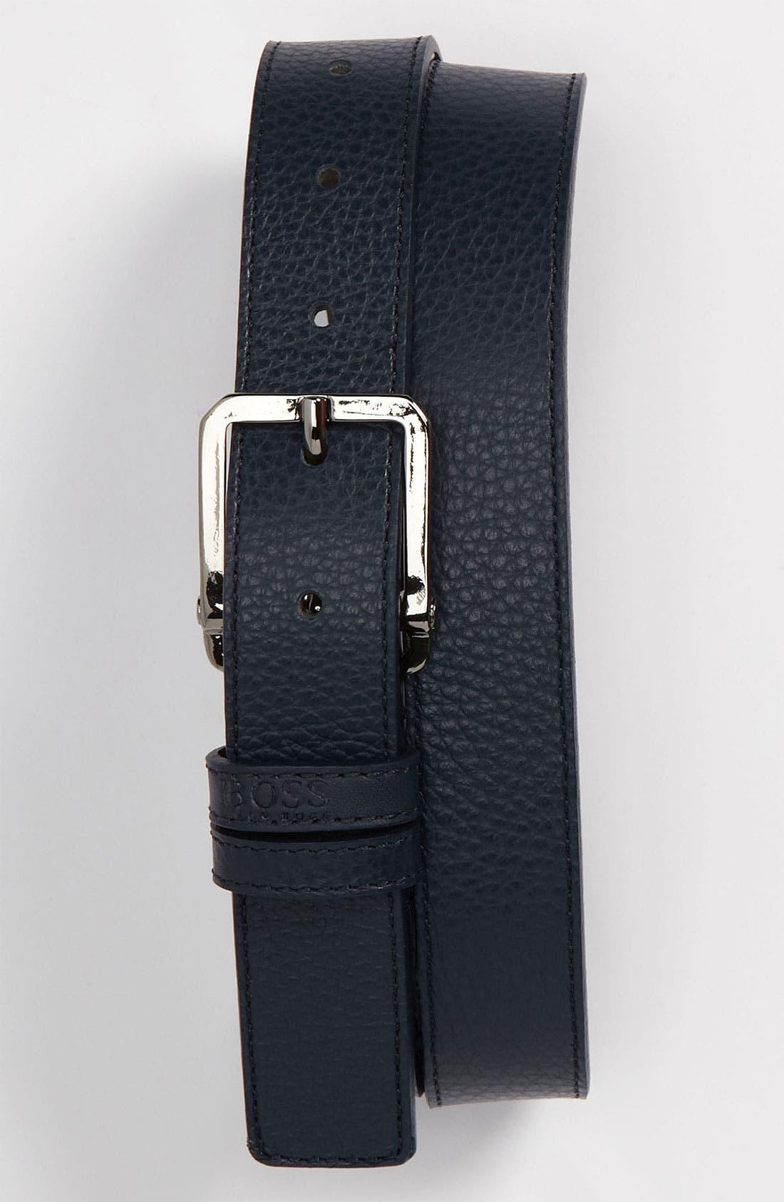 Alternate Image 1 Selected - BOSS HUGO BOSS 'Crosby' Leather Belt
