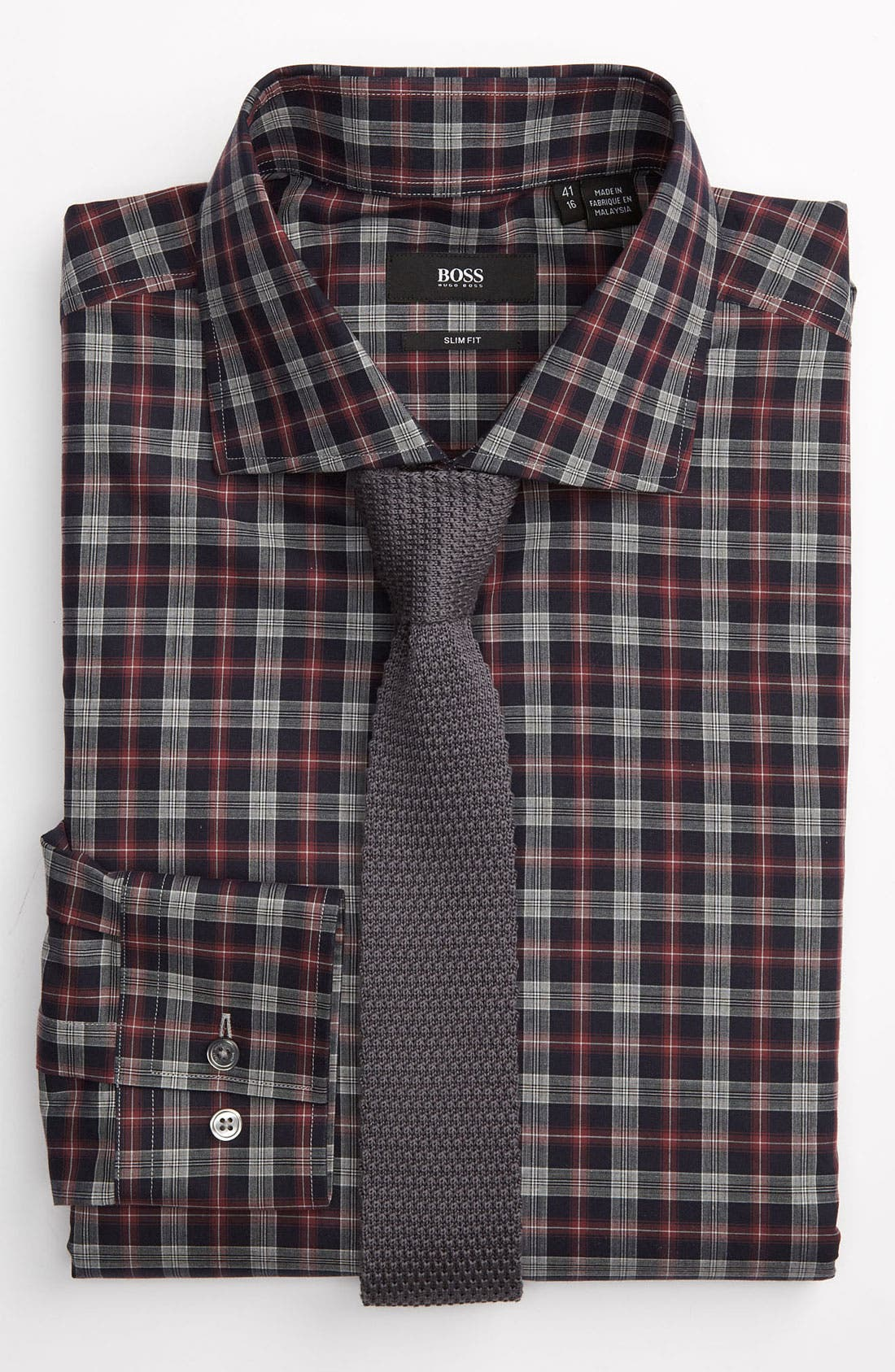 Alternate Image 2  - BOSS Black Slim Fit Dress Shirt