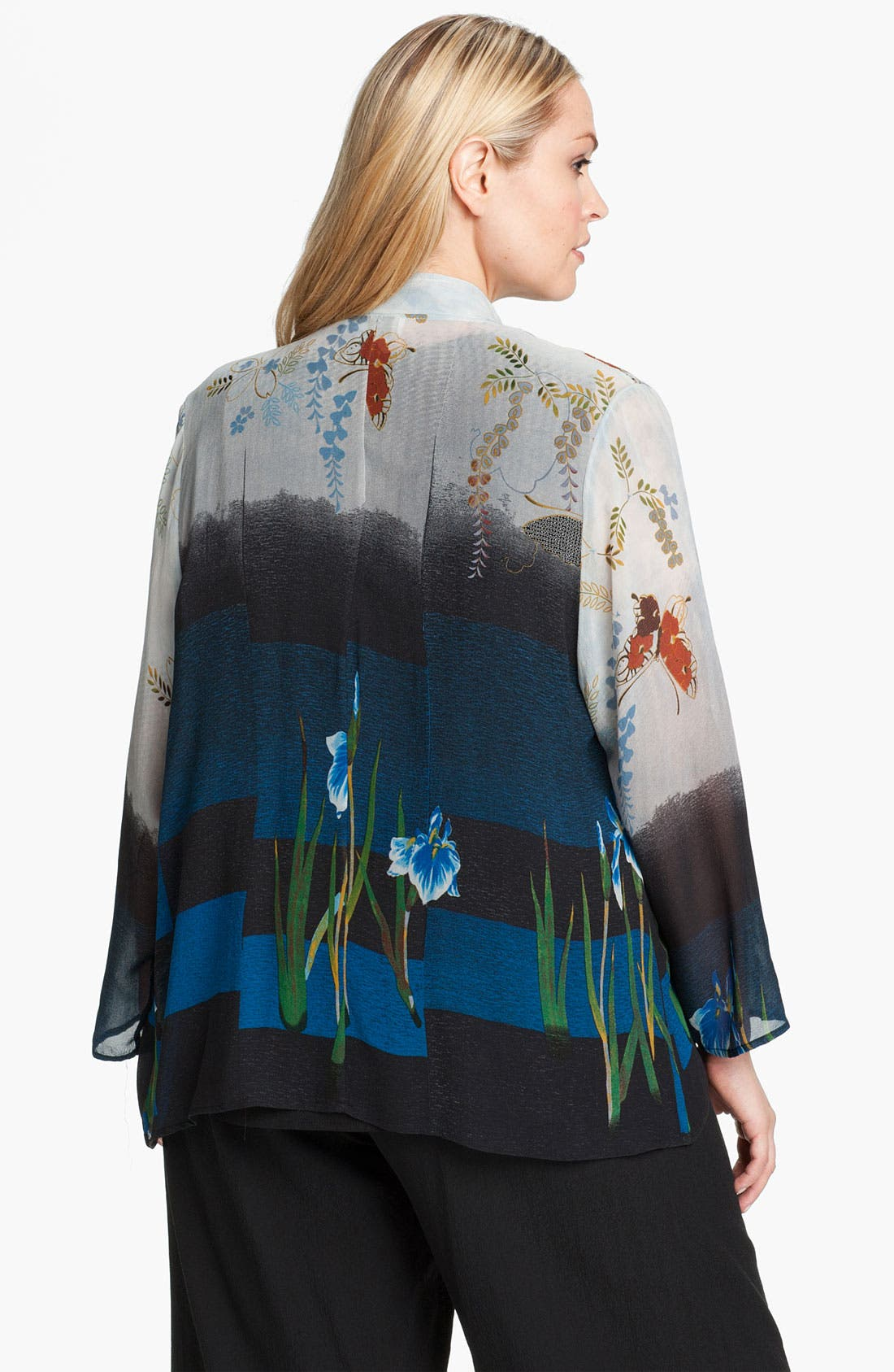Alternate Image 2  - Citron Floral Print Silk Jacket
