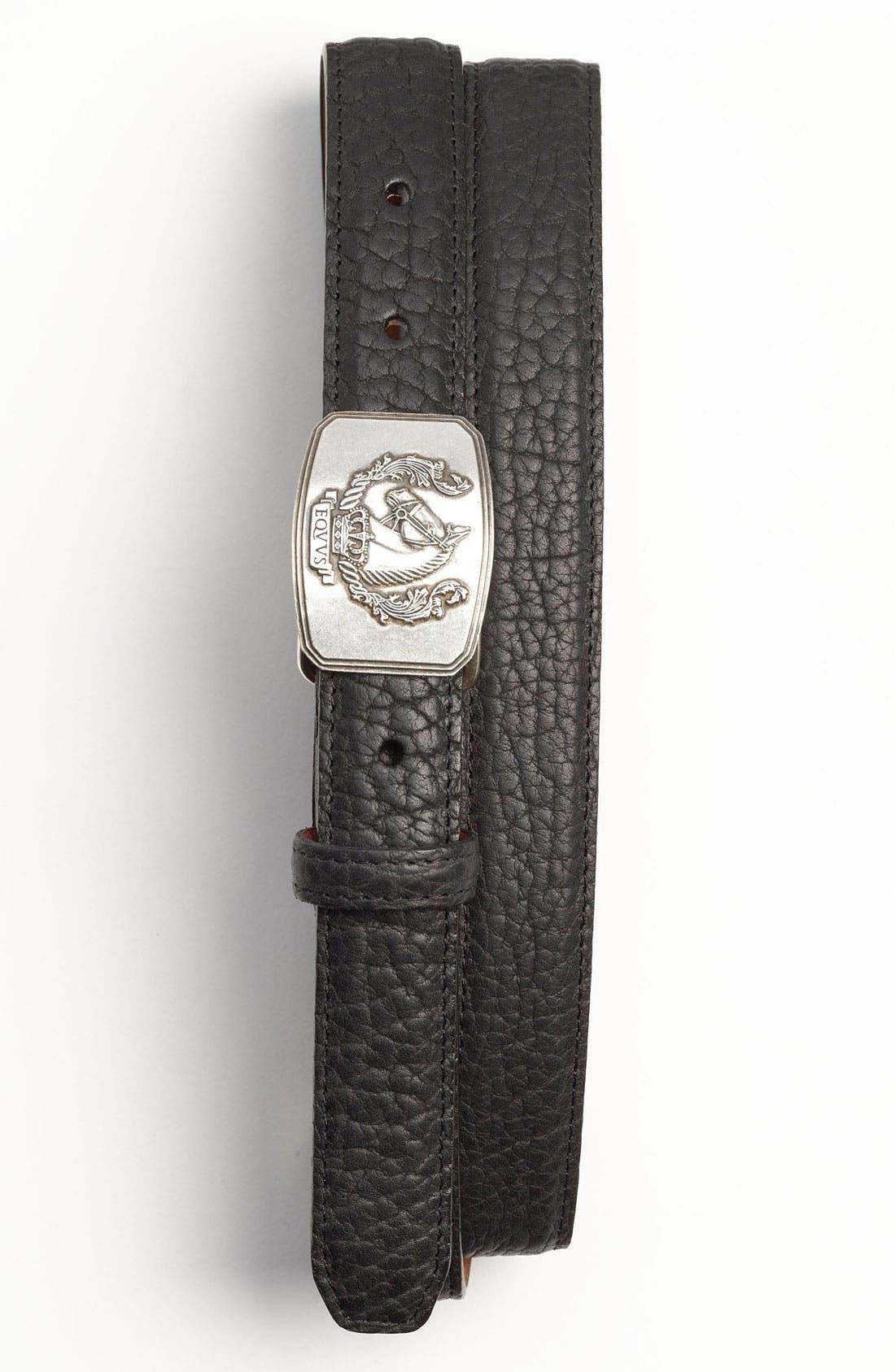 Alternate Image 1 Selected - Trafalgar 'Ramsey' Bison Leather Belt