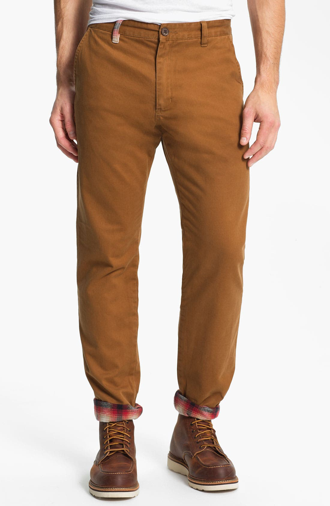 Main Image - Toddland 'Shipwreck' Flannel Lined Straight Leg Pants