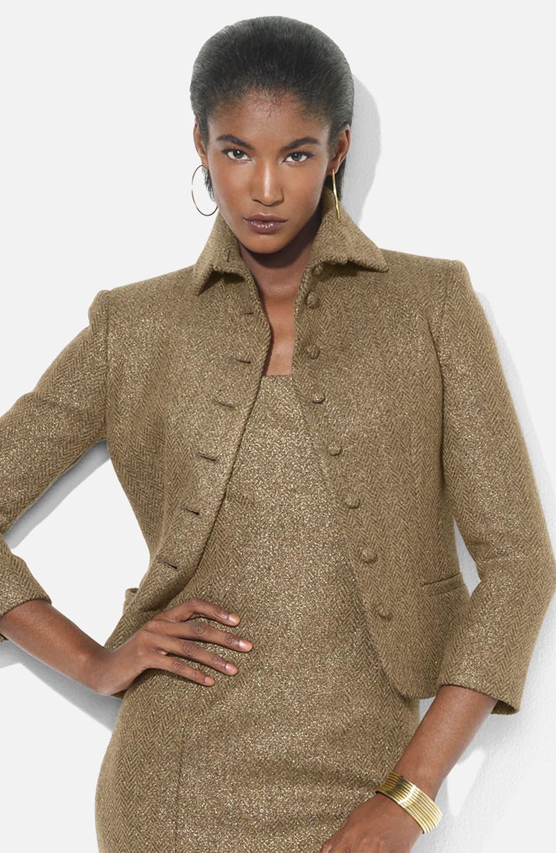 Alternate Image 1 Selected - Lauren Ralph Lauren Metallic Herringbone Jacket