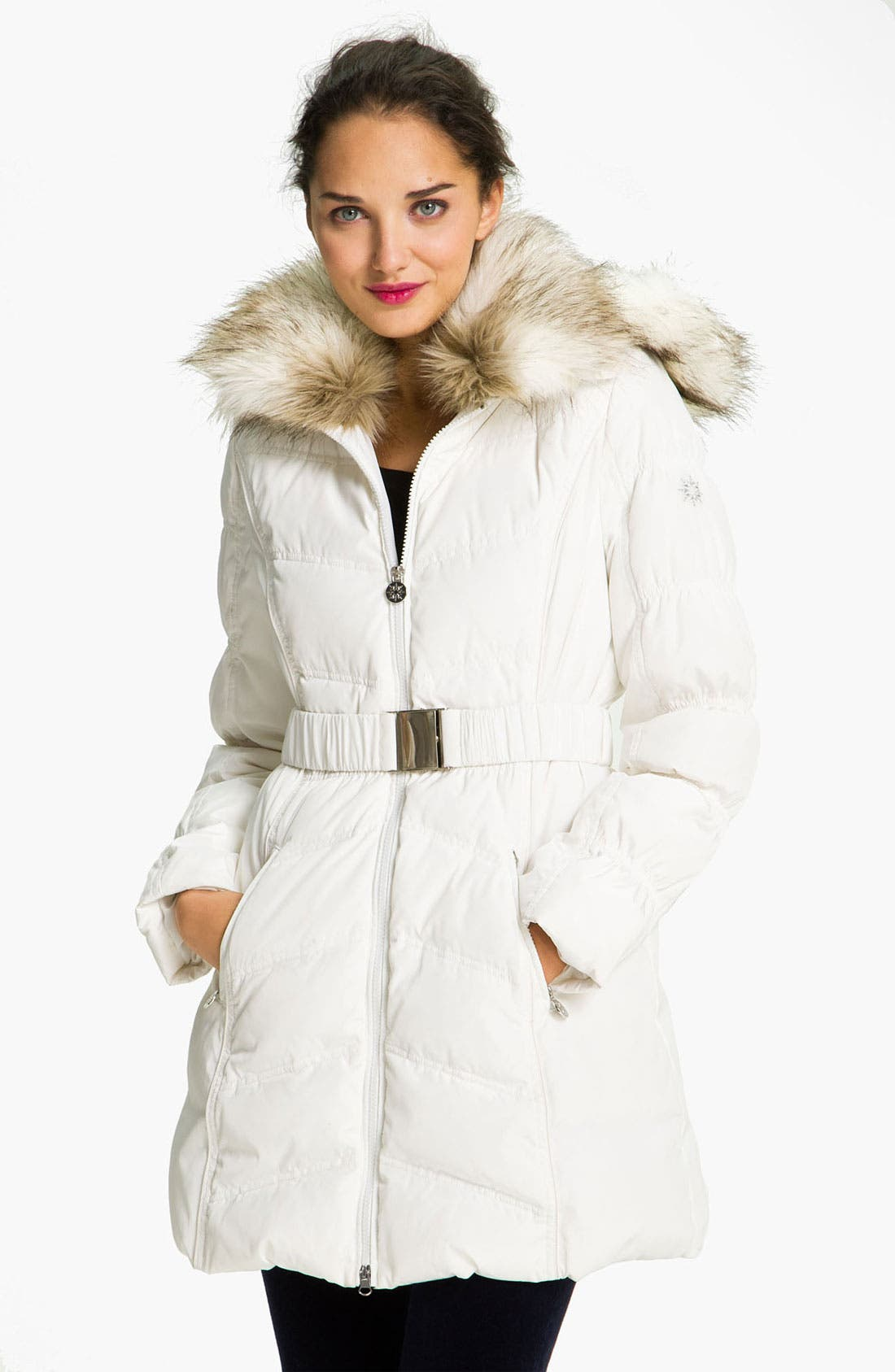 Alternate Image 1 Selected - Laundry by Shelli Segal Faux Fur Trim Parka