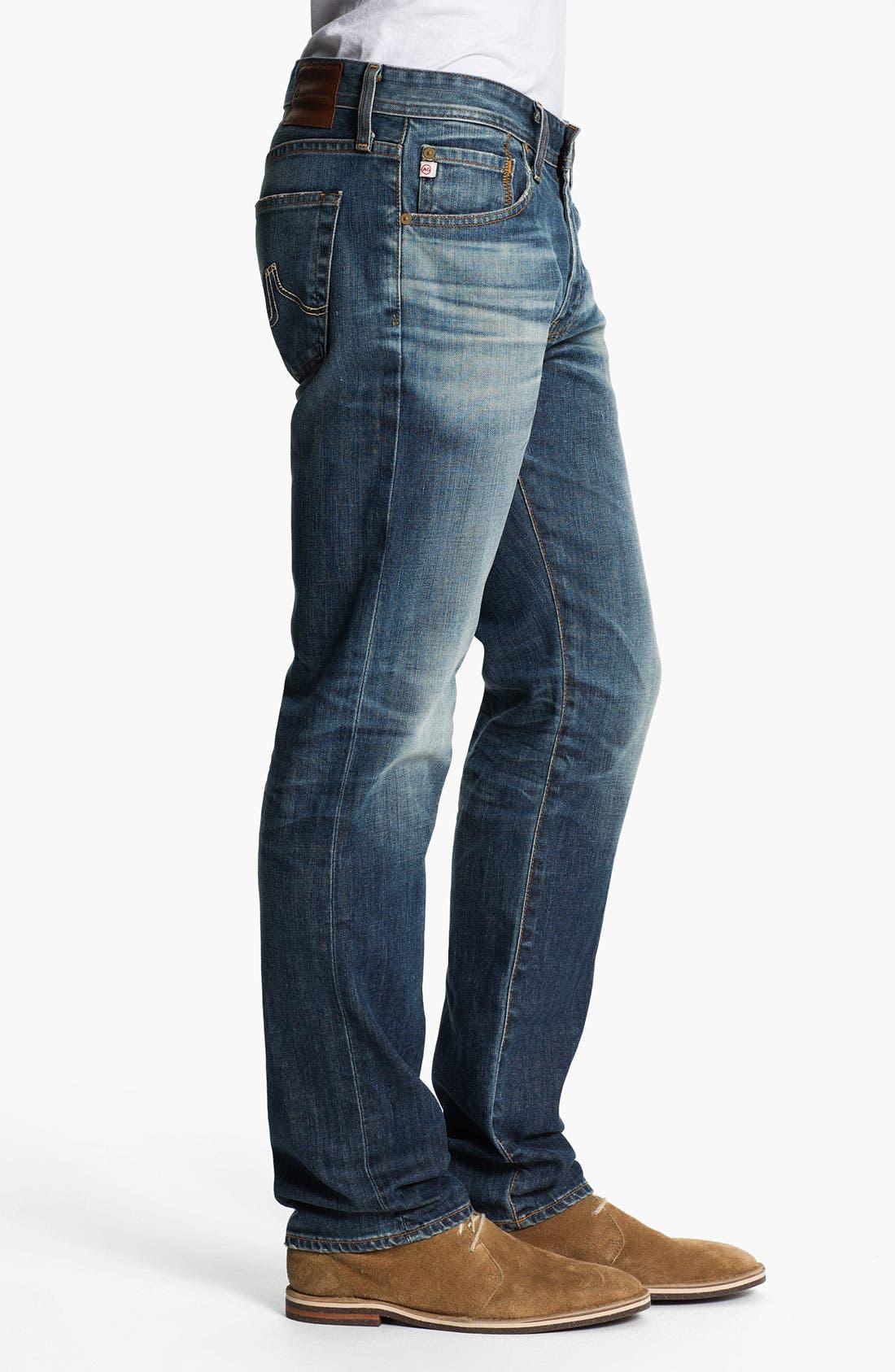 Alternate Image 3  - AG Jeans 'Matchbox' Slim Straight Leg Jeans (12 Year Sand)