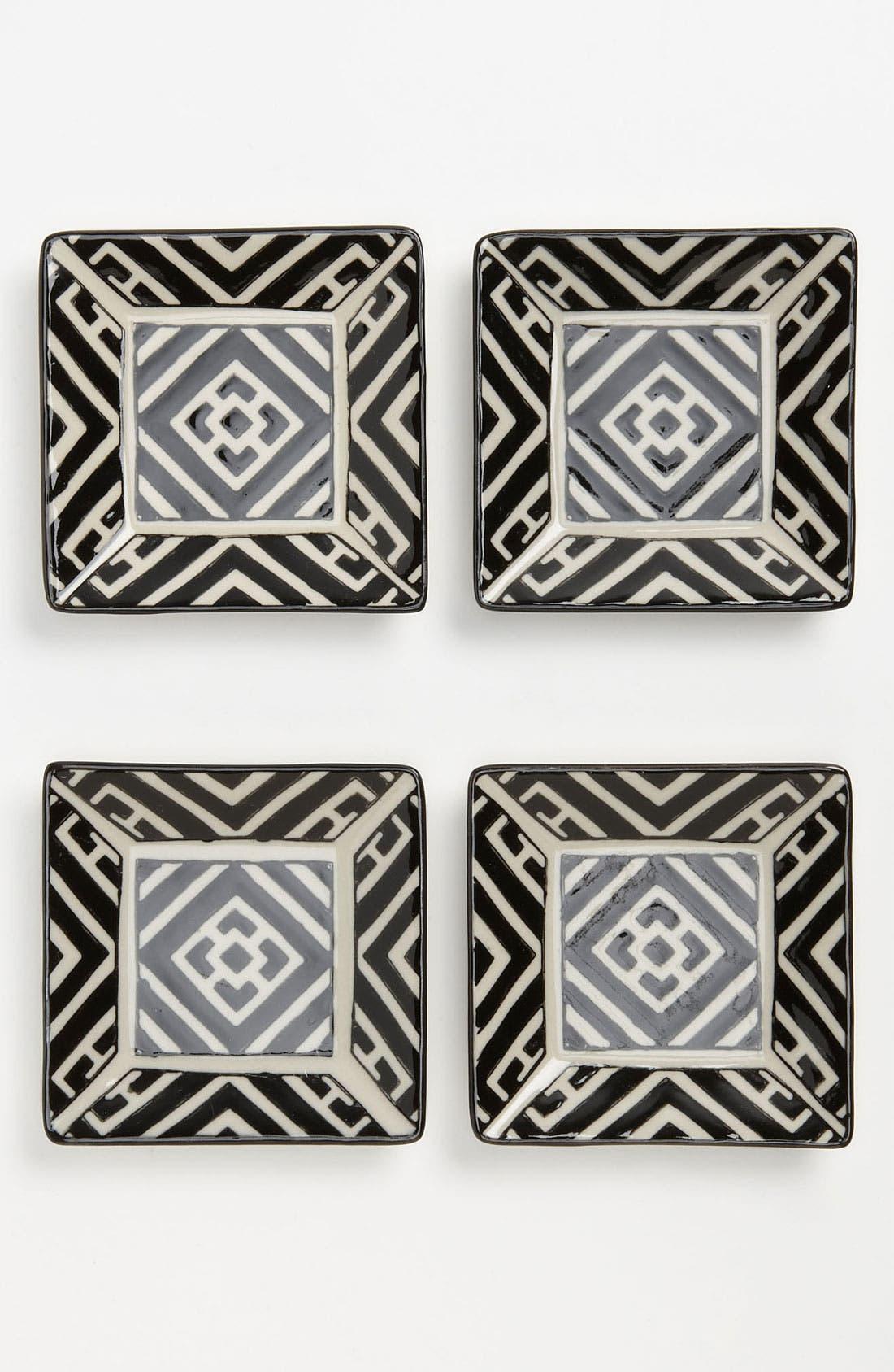 Main Image - Black & White Appetizer Plates (Set of 4)