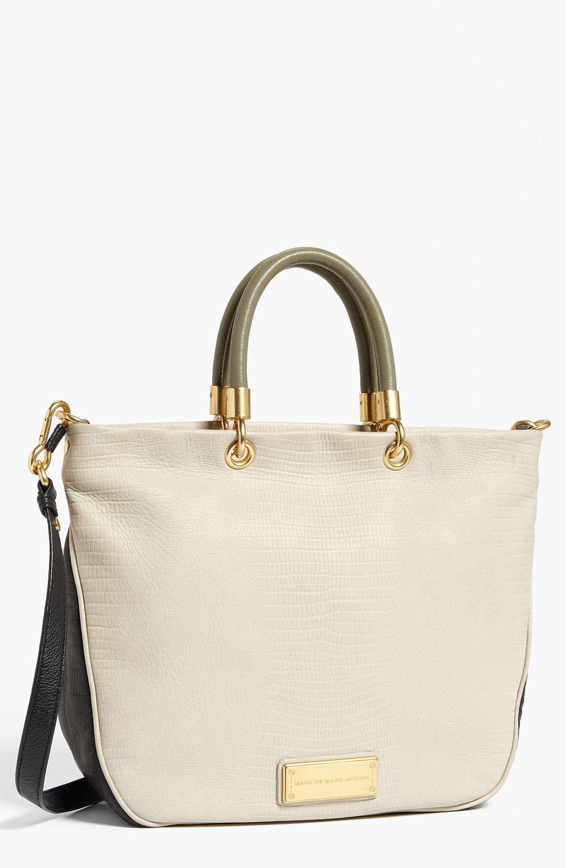 Main Image - MARC BY MARC JACOBS 'Too Hot to Handle - Mini' Embossed Colorblock Shopper