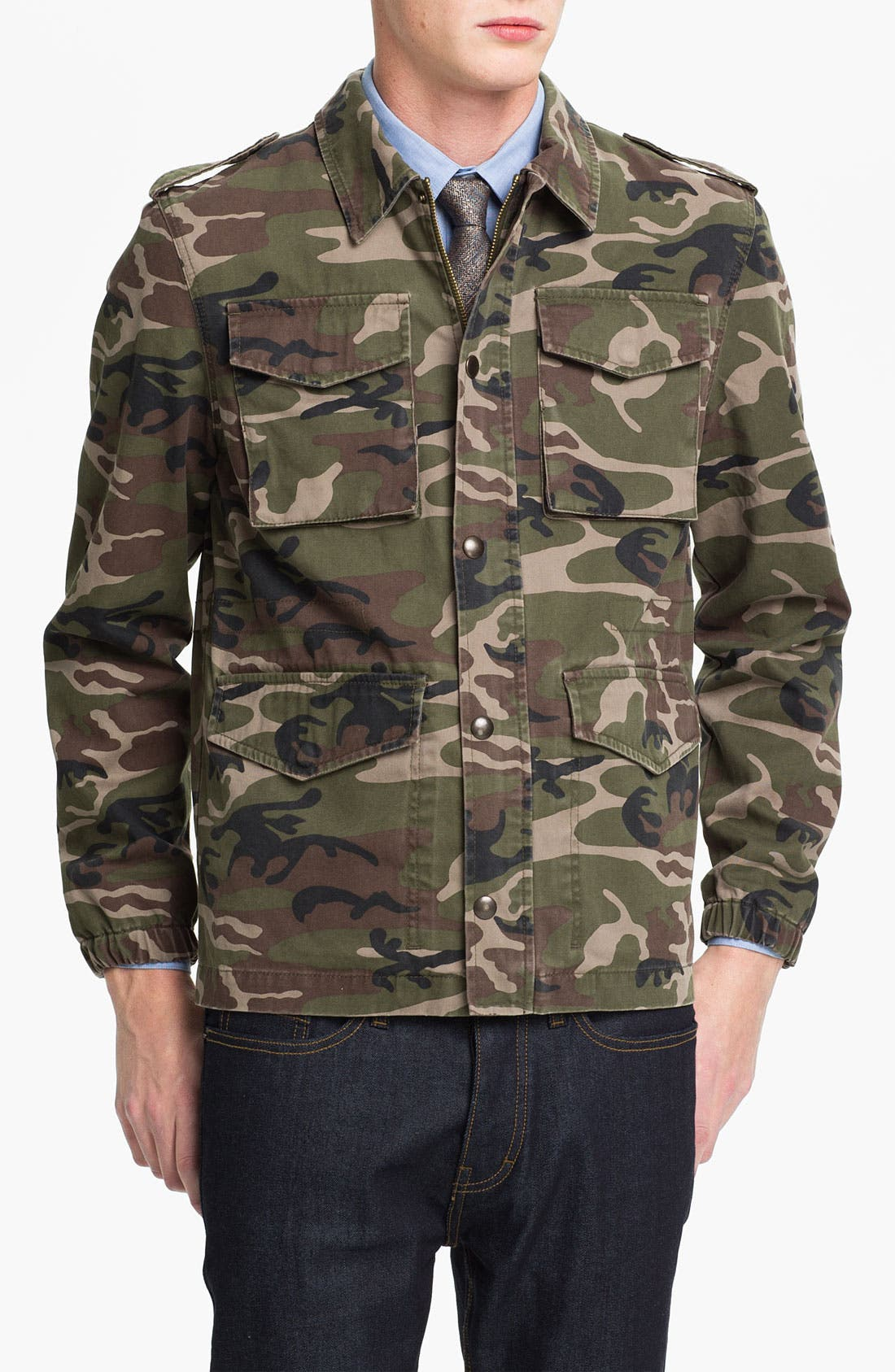 Main Image - Topman 'Blenheim' Camo Field Jacket